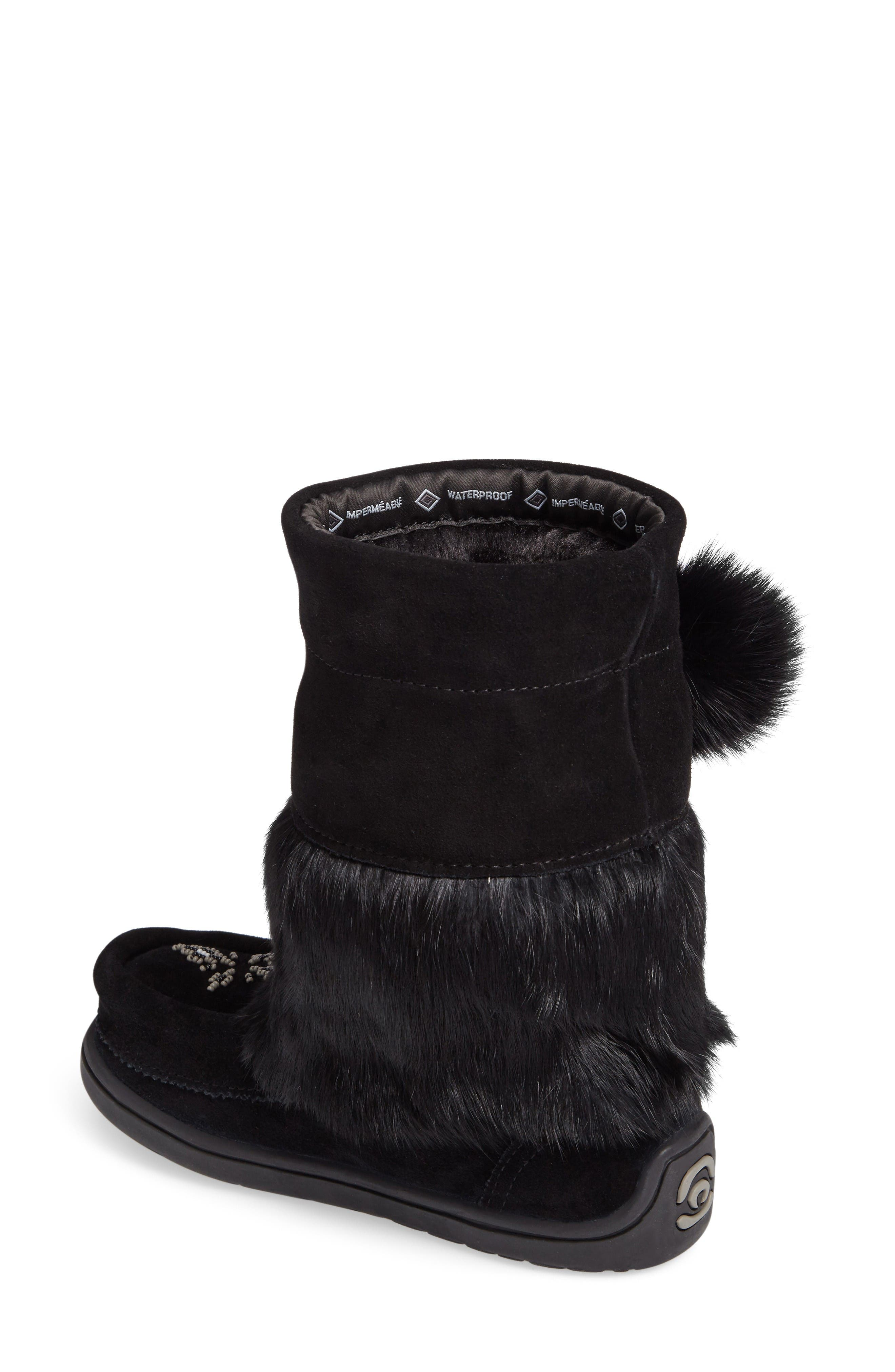 Alternate Image 2  - Manitobah Mukluks Snowy Owlet Genuine Fur Waterproof Boot (Walker, Toddler & Little Kid)