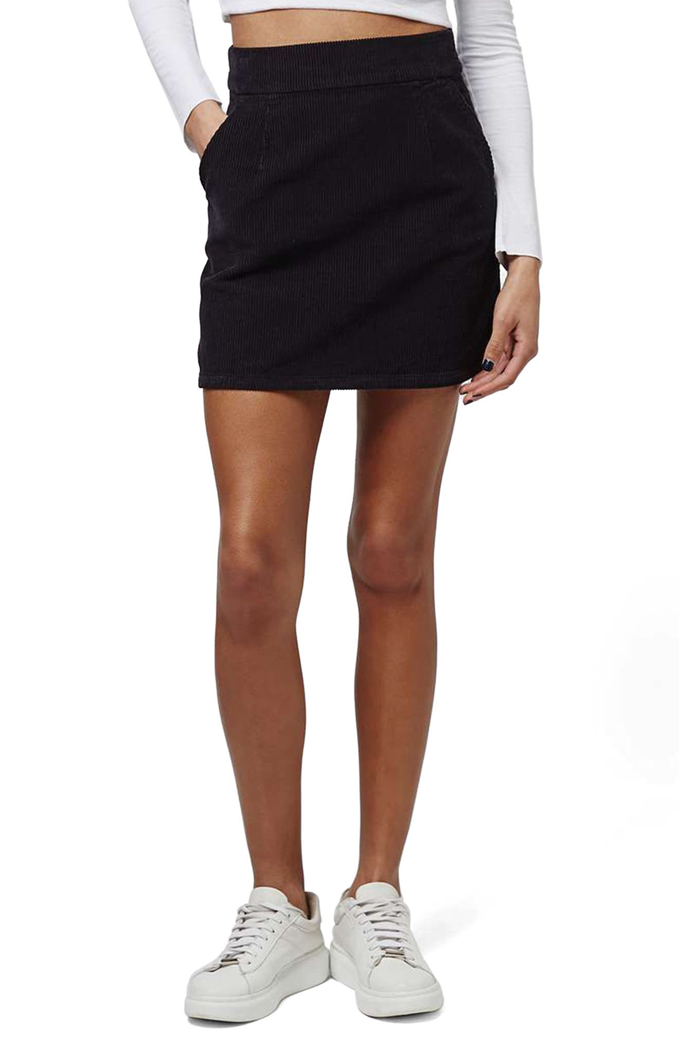 Alternate Image 1 Selected - Topshop Corduroy Miniskirt