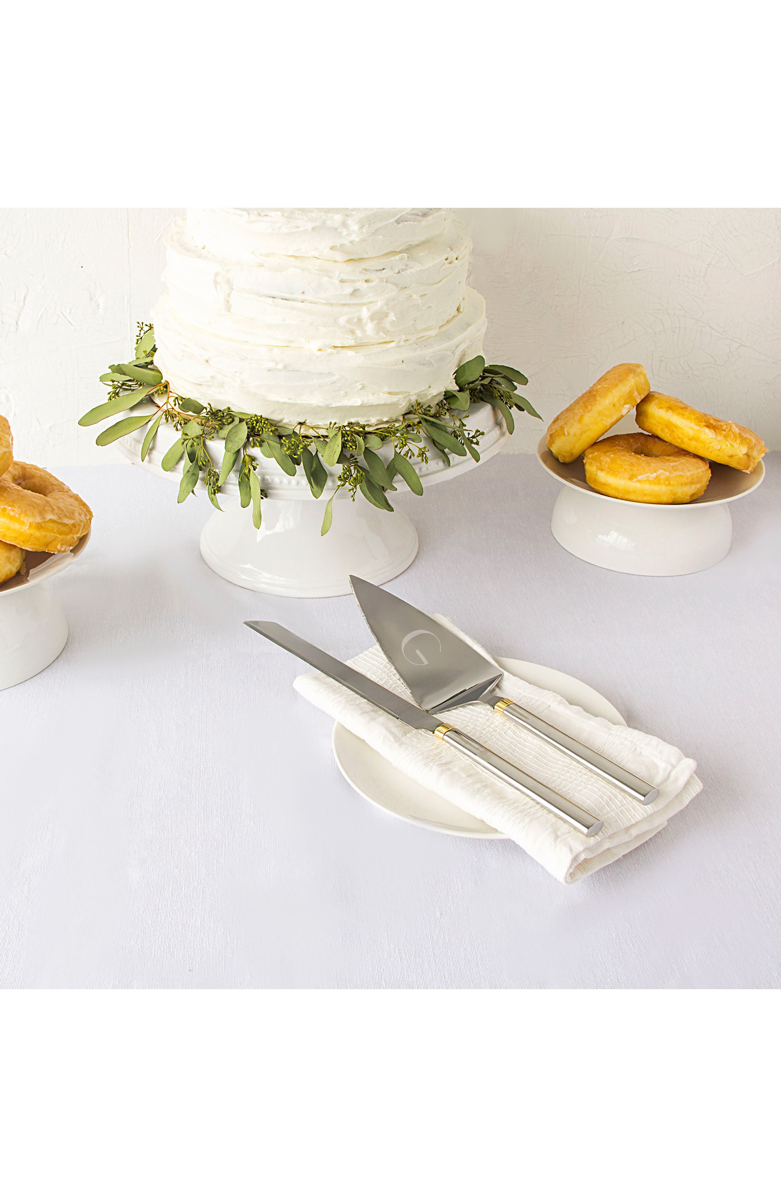 Alternate Image 4  - Cathy's Concepts Golden Love Personalized Cake Server Set