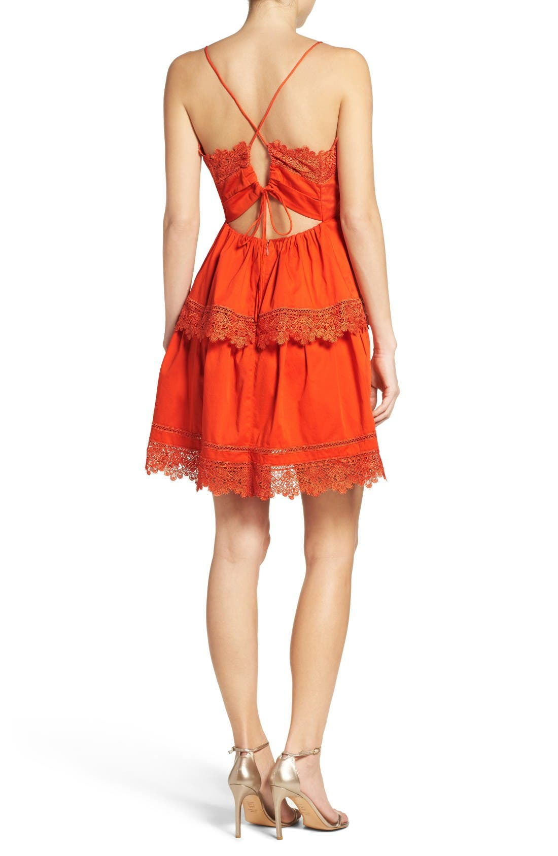 Alternate Image 3  - Bardot Sophia Peplum Dress