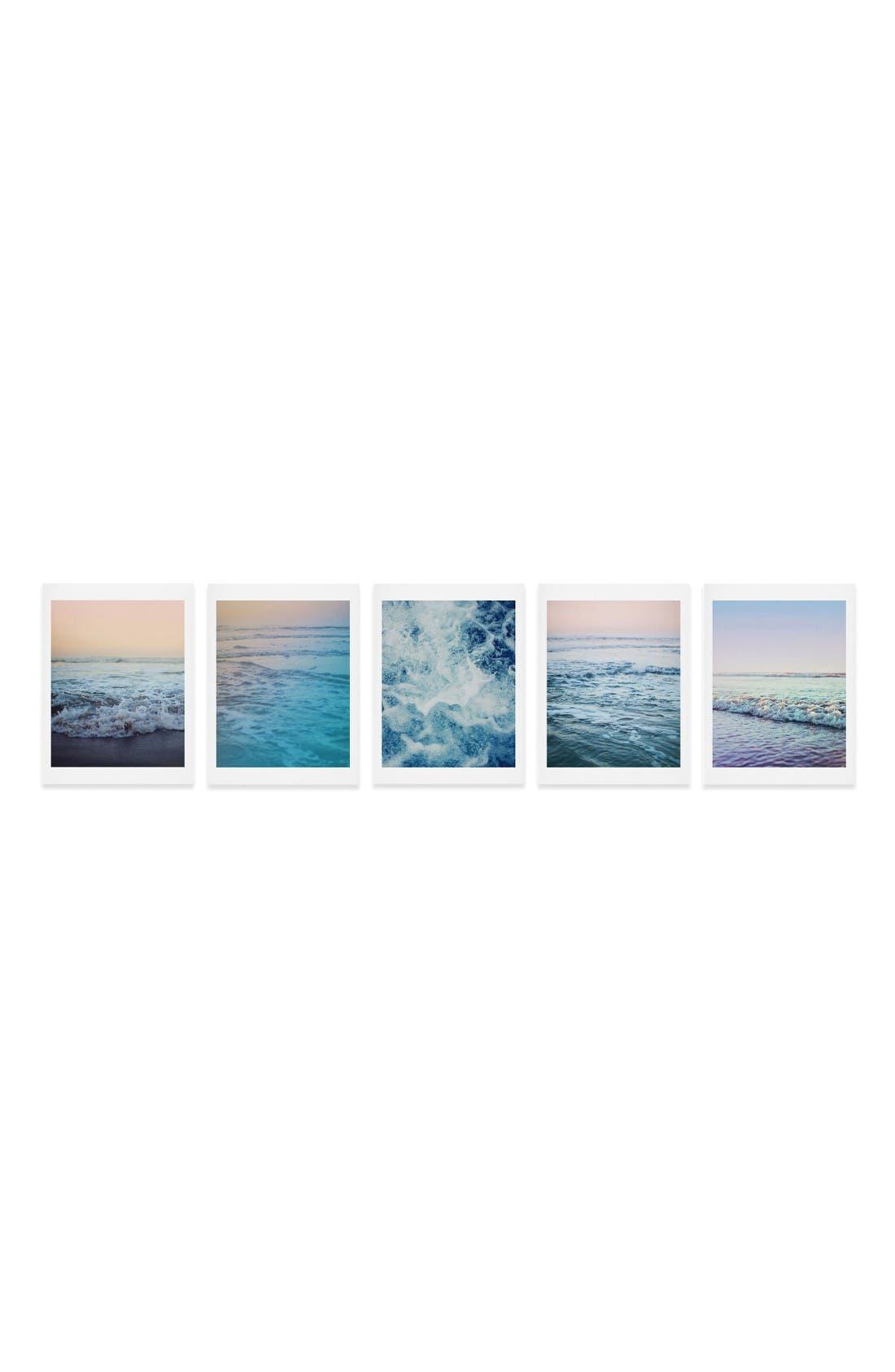 Main Image - Deny Designs Ocean Five-Piece Gallery Wall Art Print Set