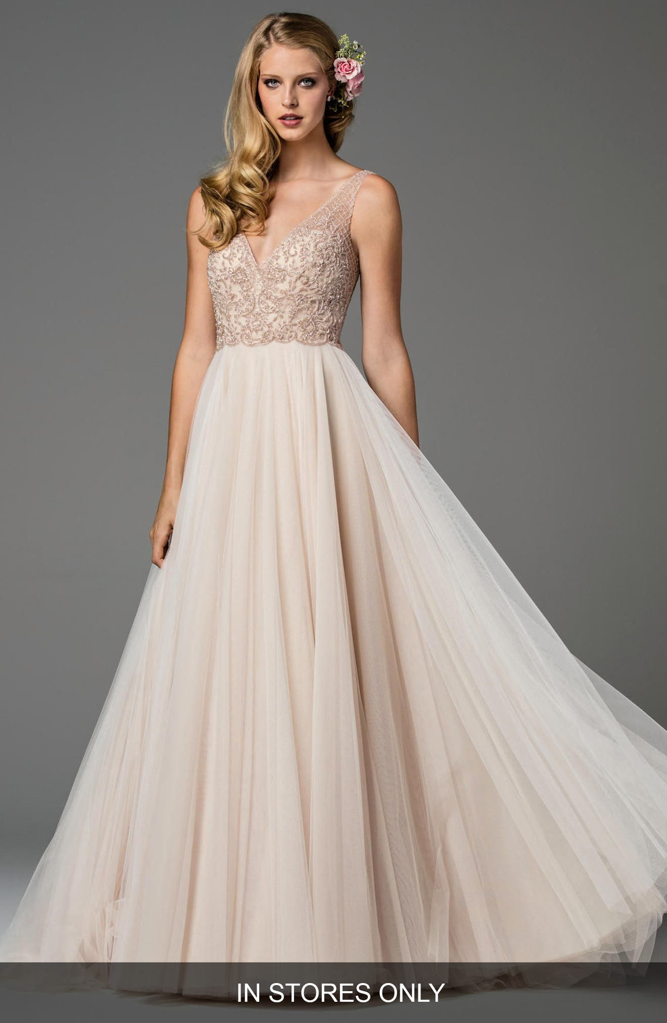 Main Image - Watters Ora Strapless Tulle Gown