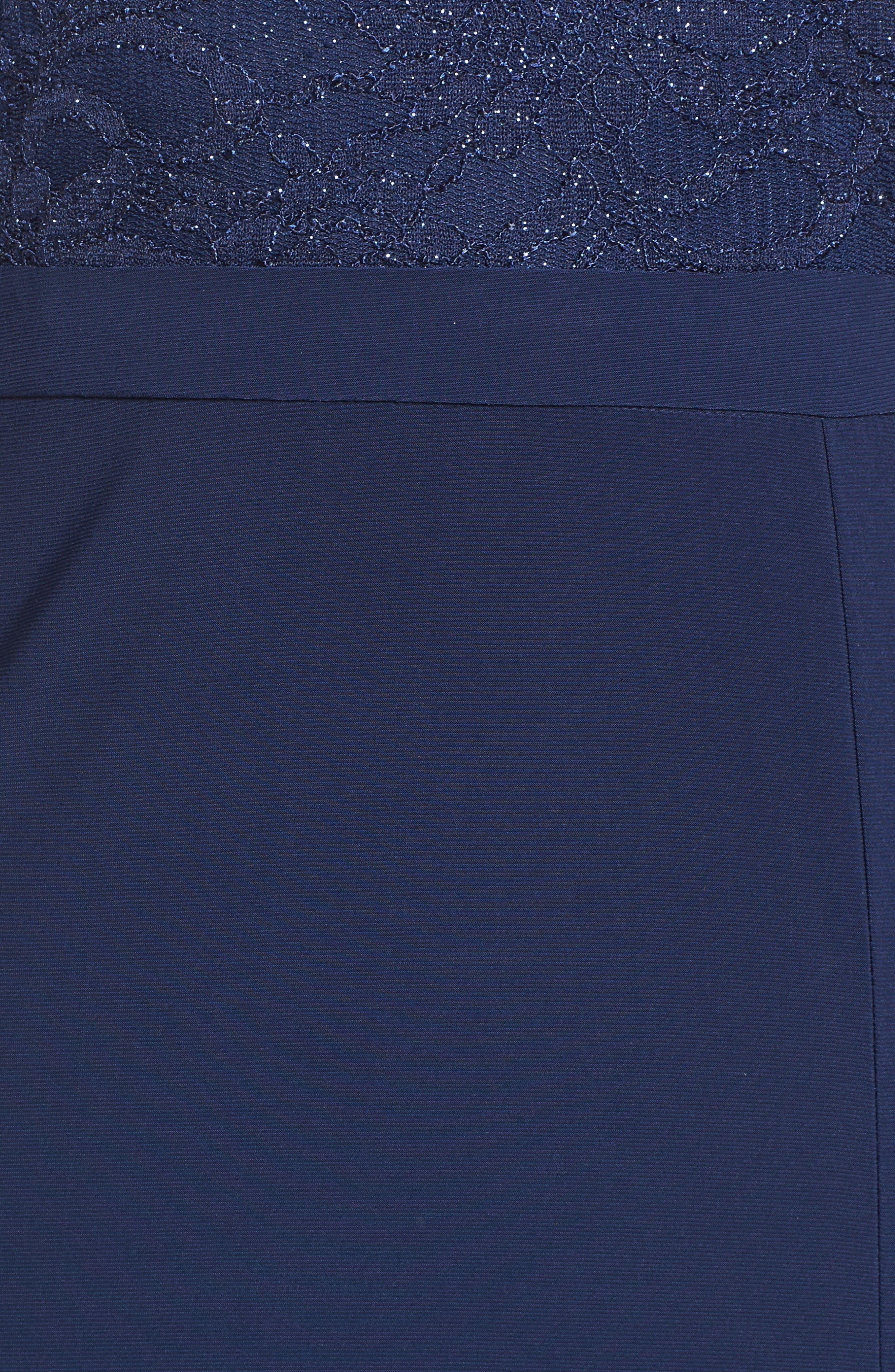 Alternate Image 5  - Morgan & Co. Sparkle Off the Shoulder Gown