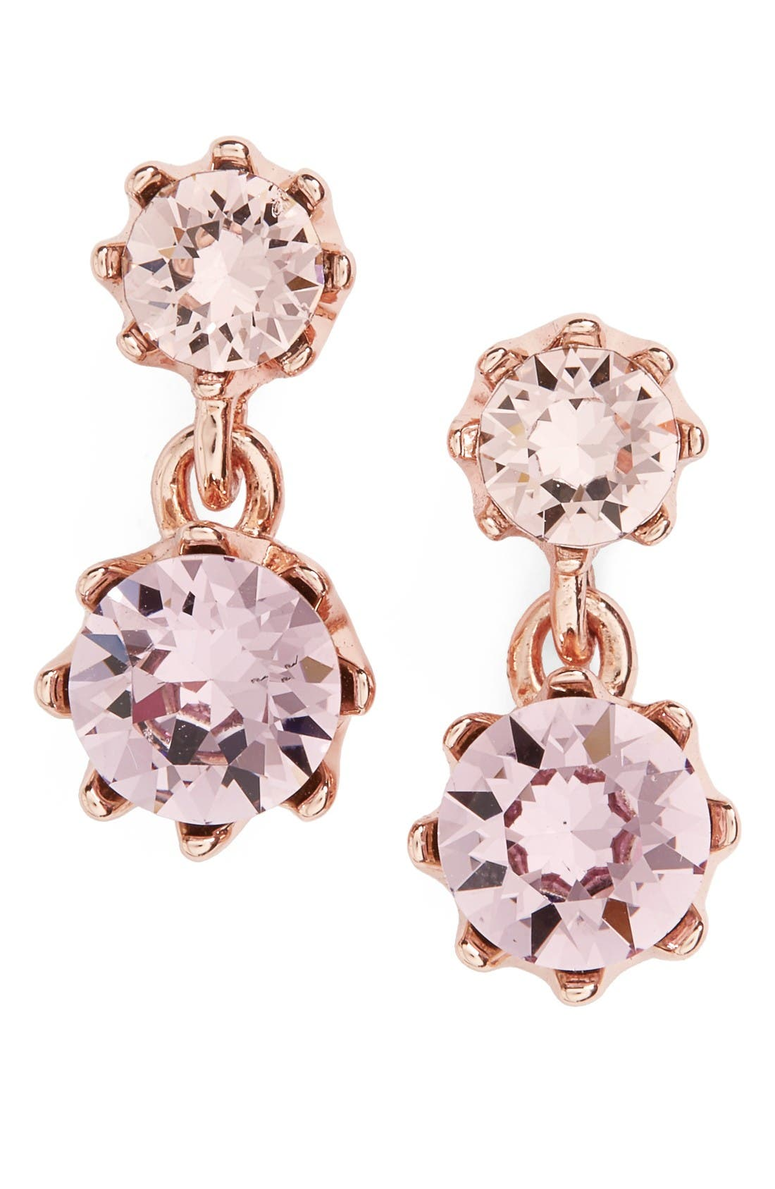 Ted Baker Conolle Crystal Drop Earrings,                             Main thumbnail 1, color,                             Pink