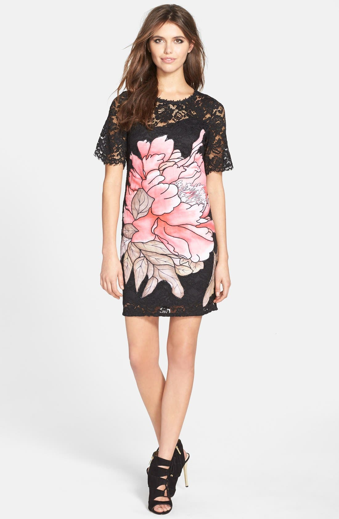 Alternate Image 3  - Elliatt 'Instinct' Floral Appliqué Lace Shift Dress