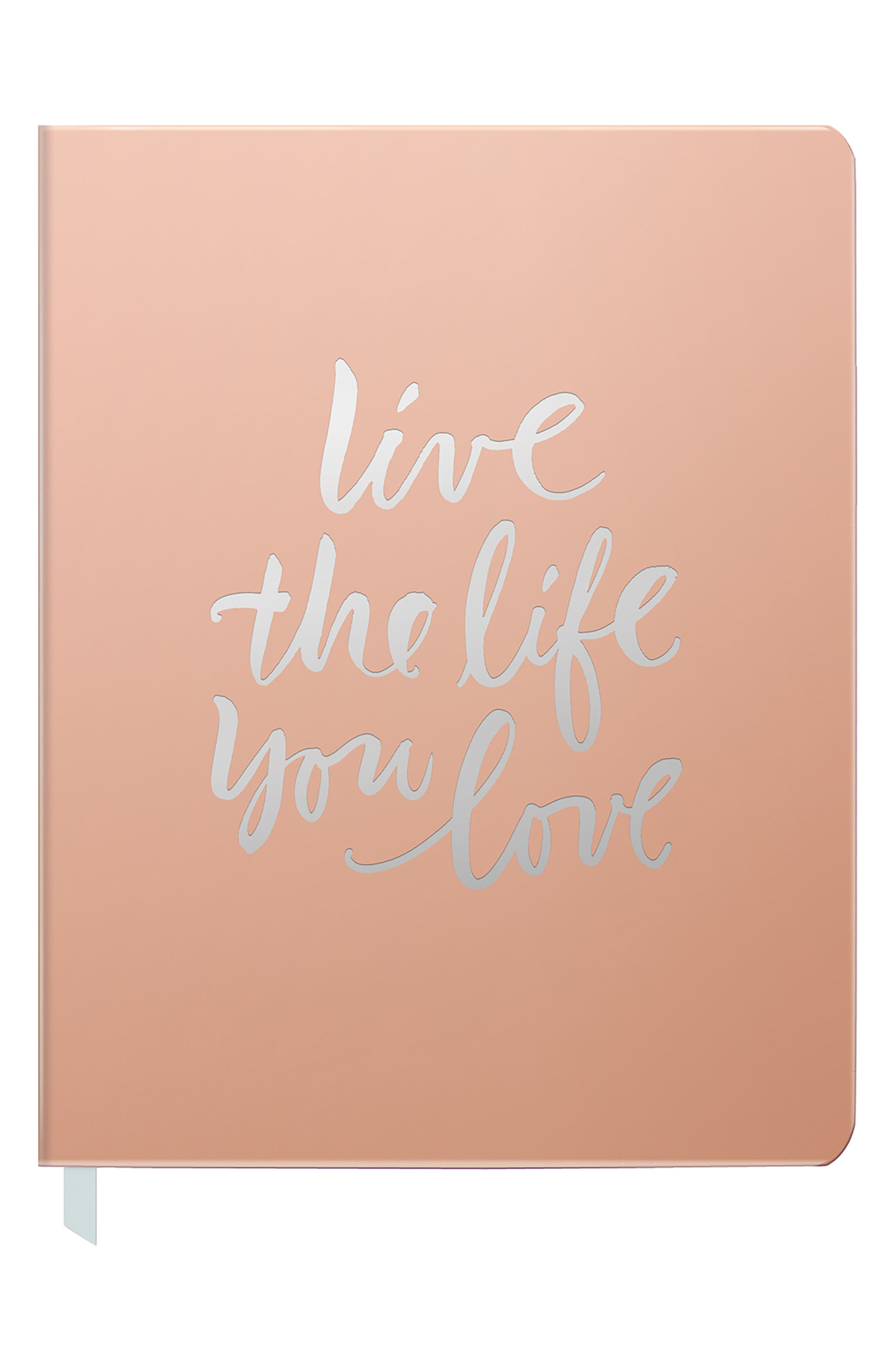 Live the Life You Love Journal,                         Main,                         color, Rose Gold