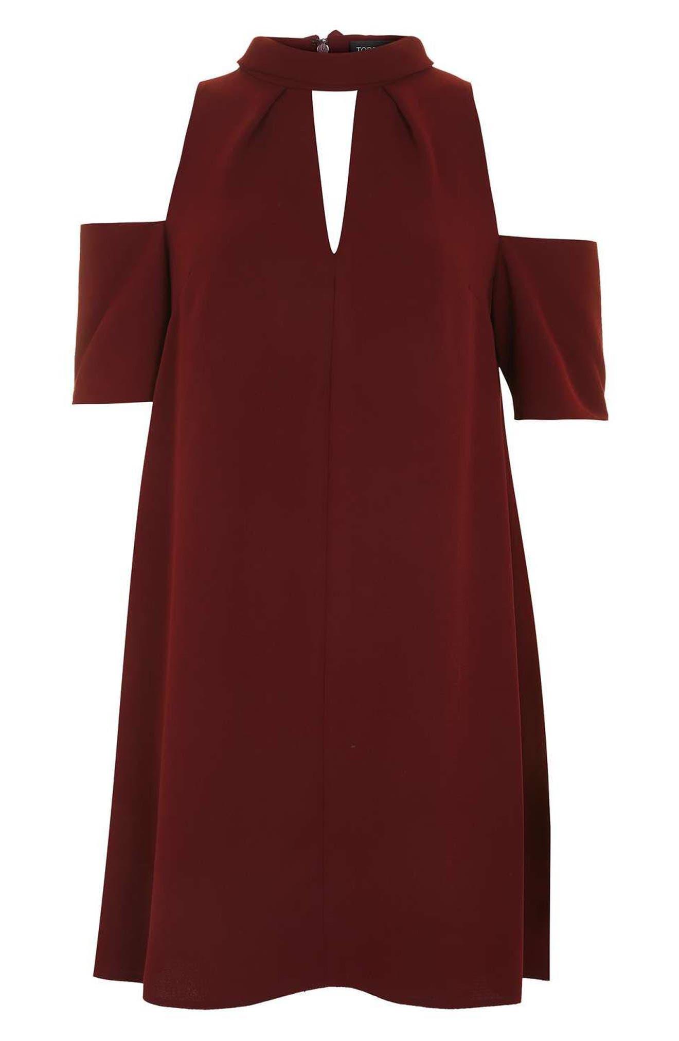 Alternate Image 4  - Topshop Cold Shoulder Keyhole Dress