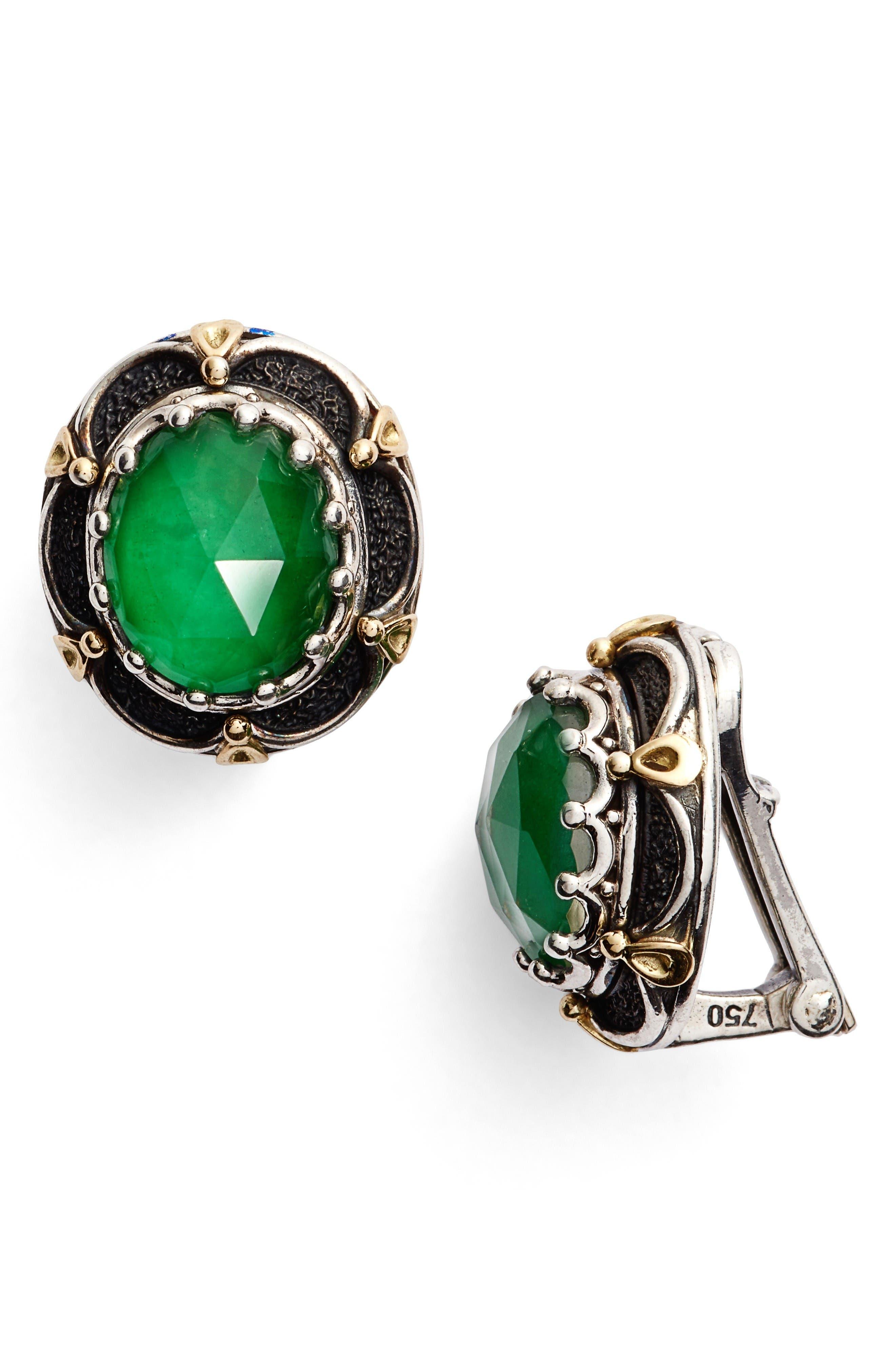 Alternate Image 1 Selected - Konstantino Semiprecious Stone Clip Earrings