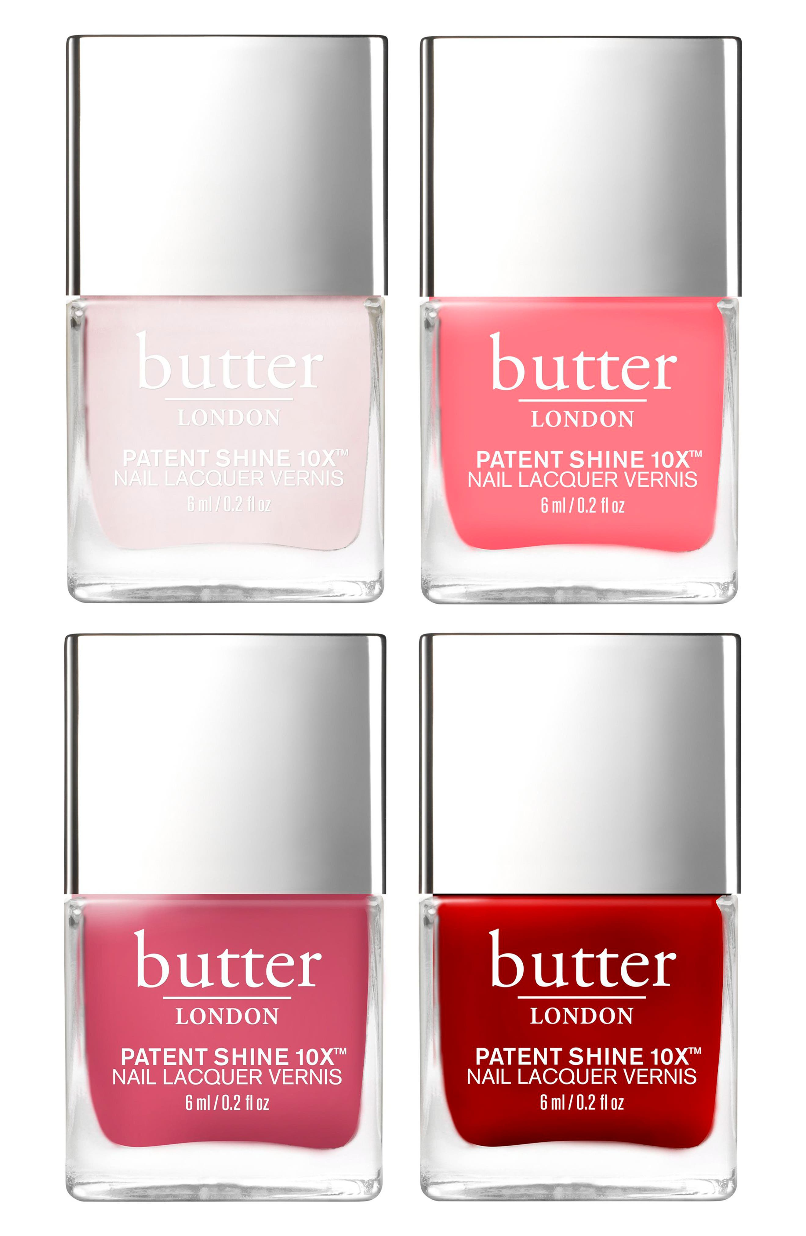 Alternate Image 2  - butter LONDON Rosy to Red Patent Shine 10x™ Nail Lacquer Set (Limited Edition) (Nordstrom Exclusive)