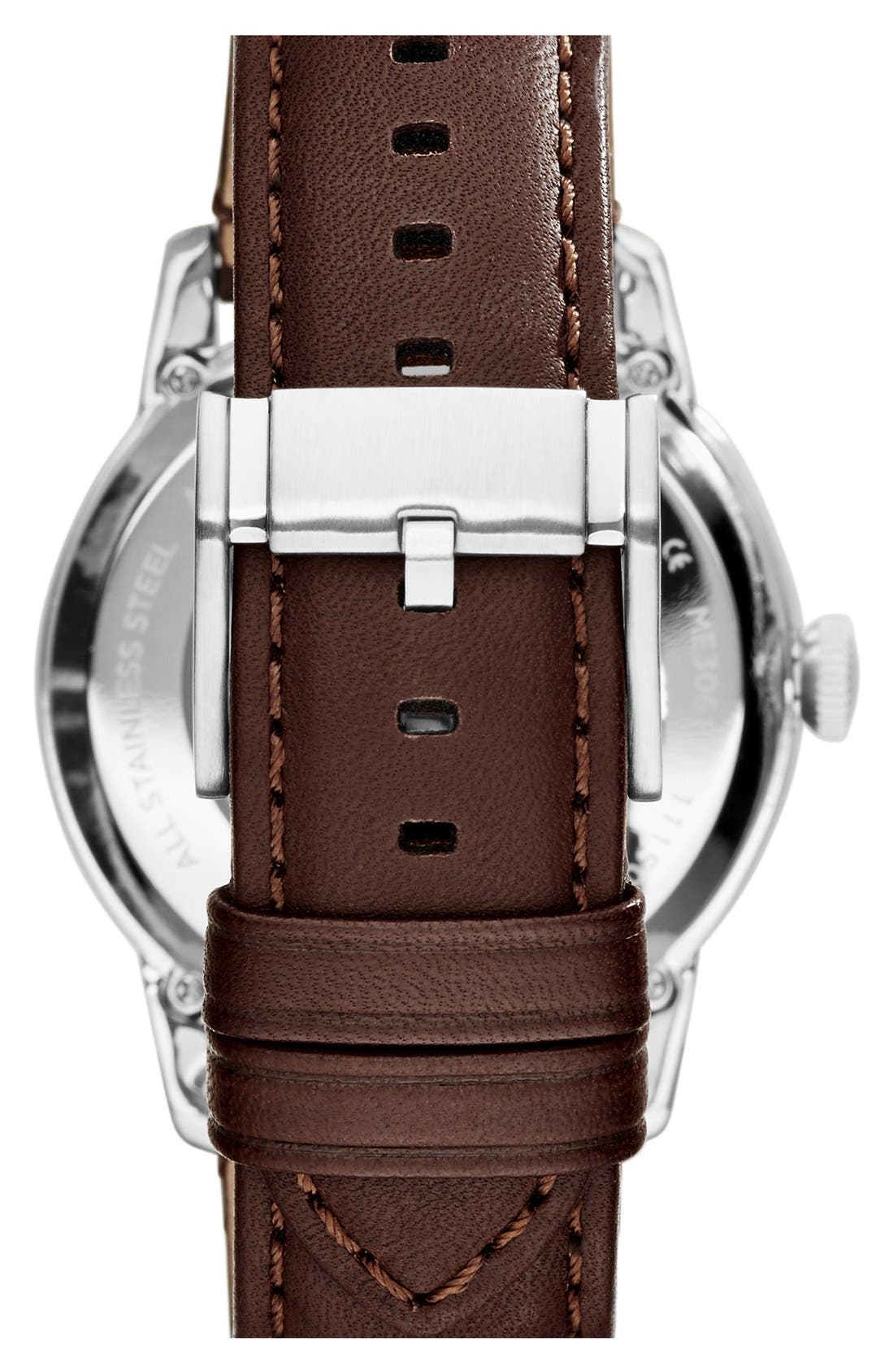 The Commuter Mesh Strap Watch, 34mm,                             Alternate thumbnail 4, color,                             Brown/ Silver/ Black