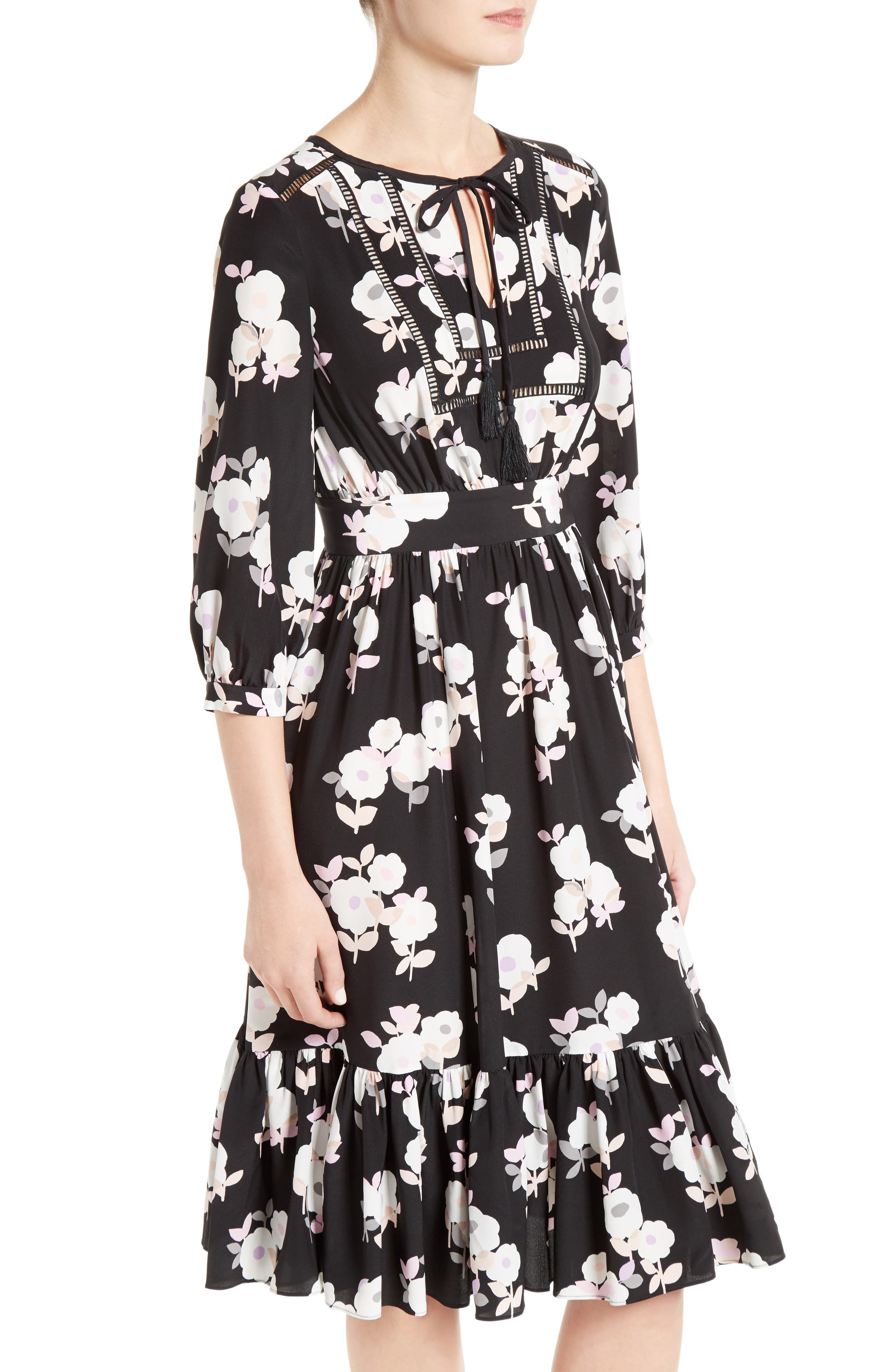 Alternate Image 4  - kate spade new york posy floral silk midi dress