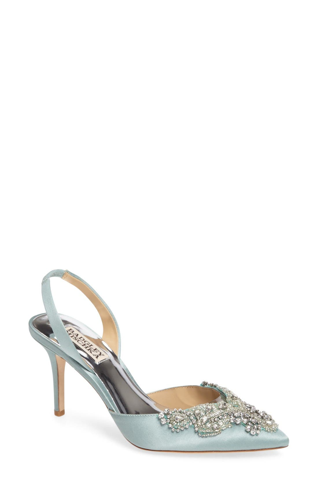 Alternate Image 1 Selected - Badgley Mischka Barnes Crystal Embellished Slingback Pump (Women)