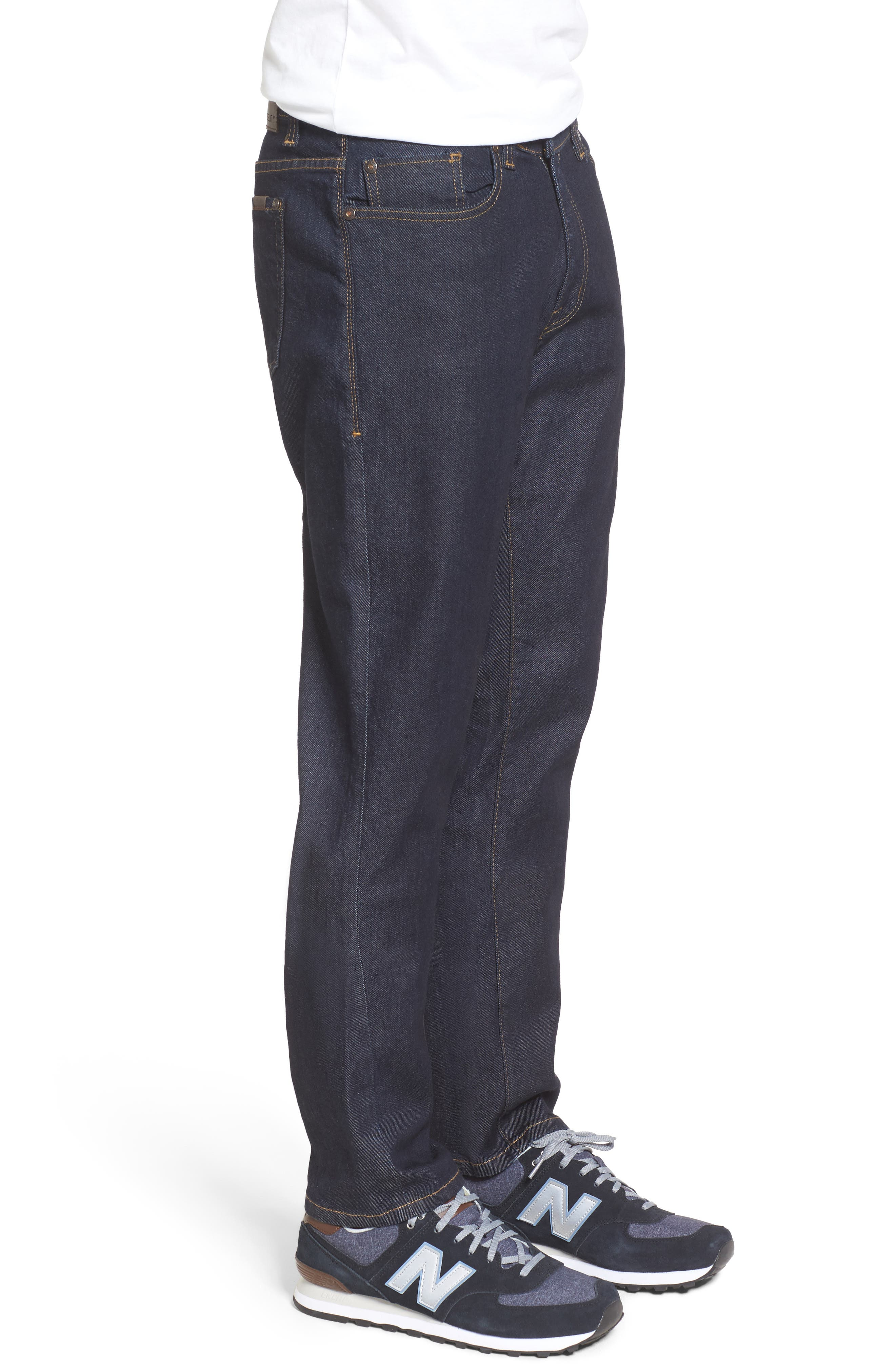 Alternate Image 3  - Fidelity Denim Jimmy Slim Straight Leg Jeans (Halo Rinse)