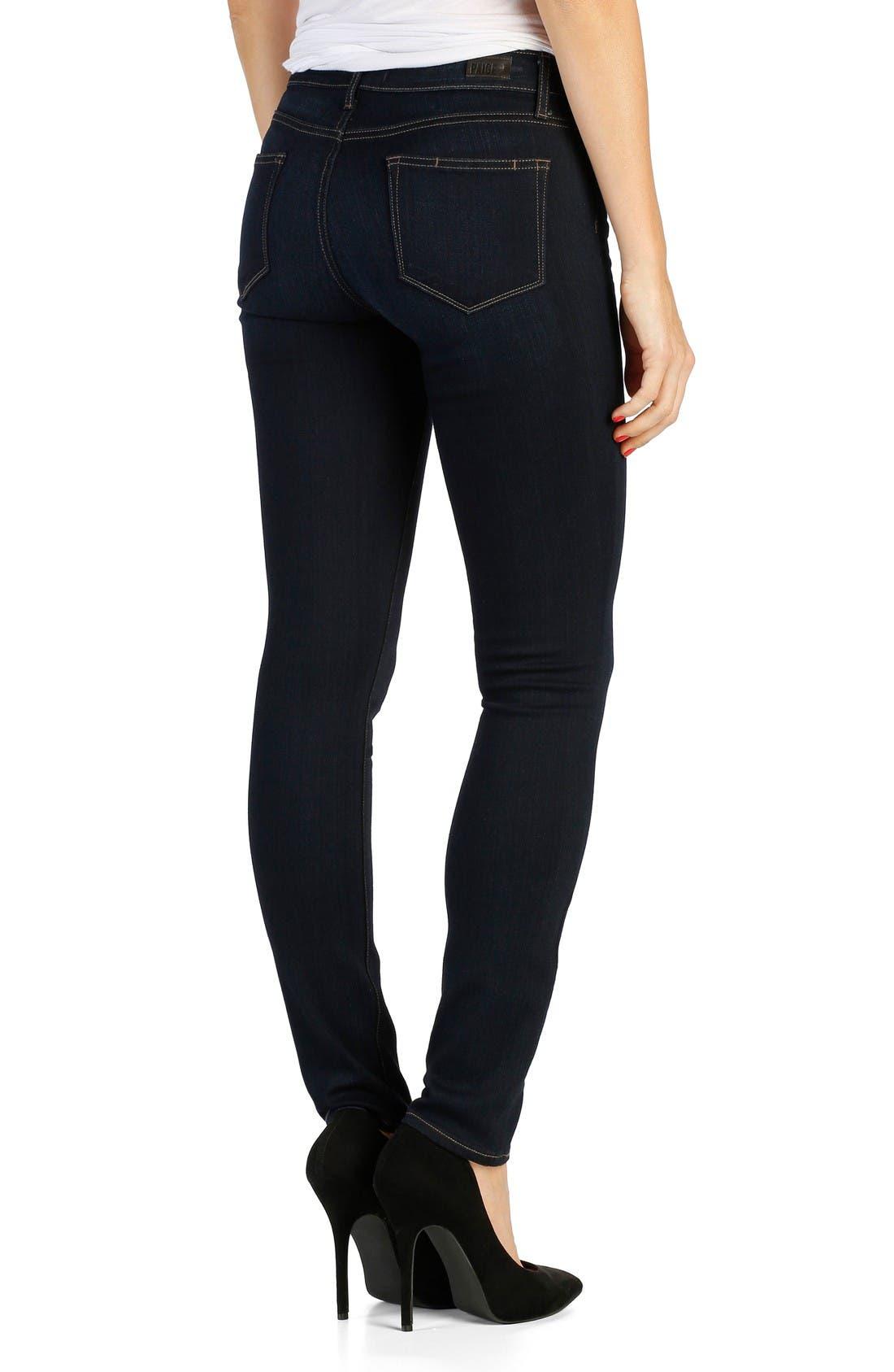 Alternate Image 2  - PAIGE Transcend - Leggy Ultra Skinny Jeans (Mona) (Long)