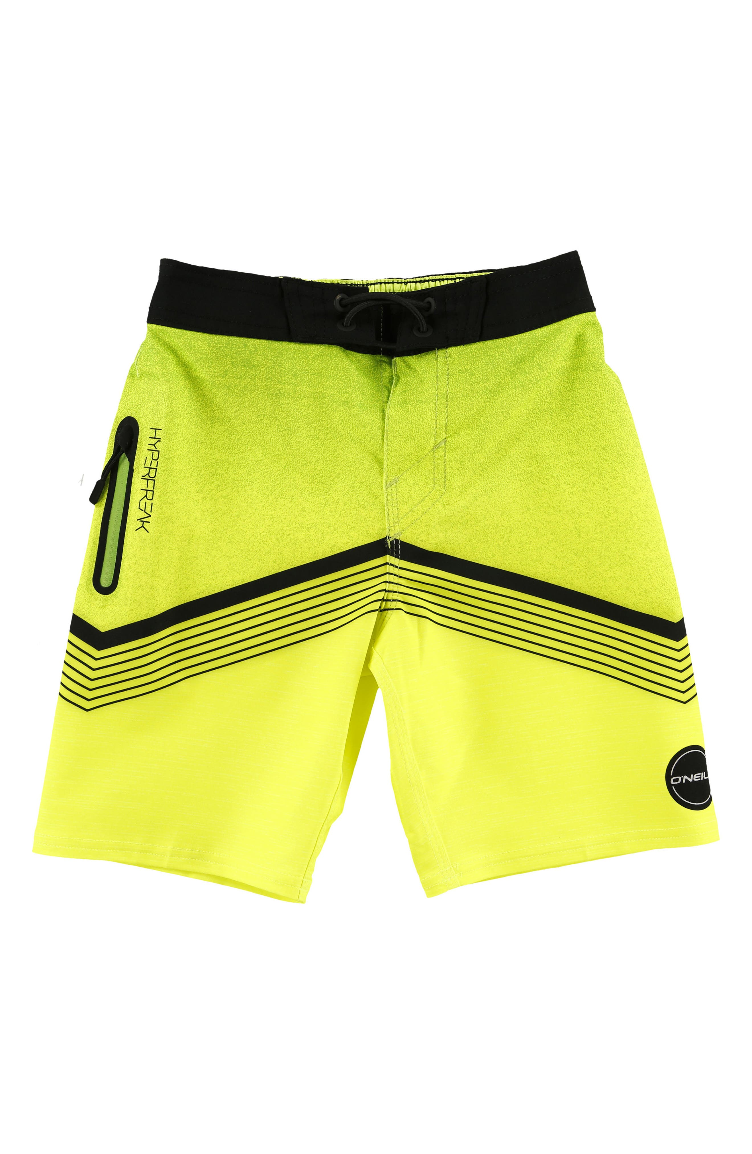 Hyperfreak Stretch Board Shorts,                             Main thumbnail 1, color,                             Neon Green