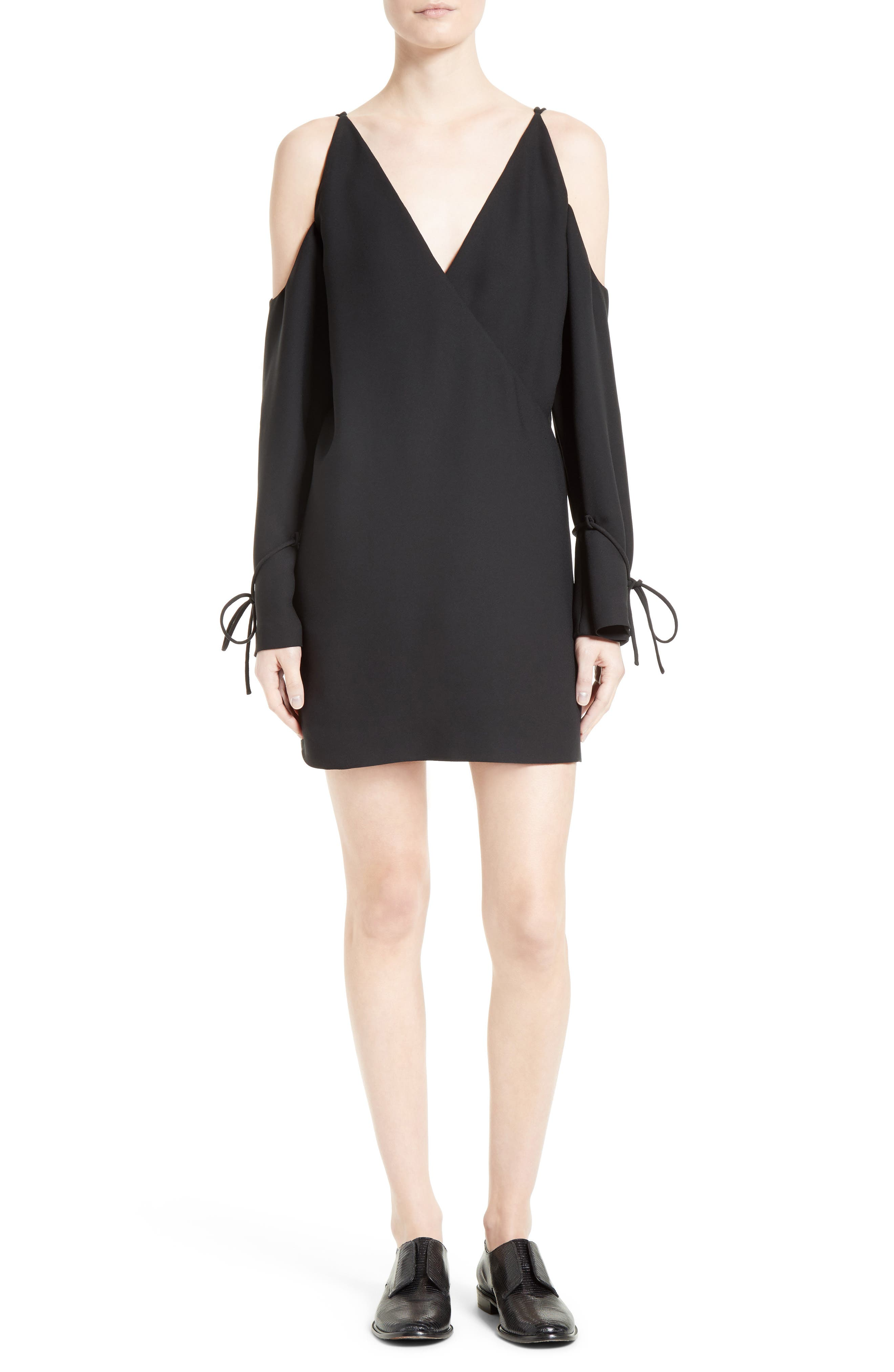 Main Image - IRO Lebeca Surplice Cold Shoulder Dress