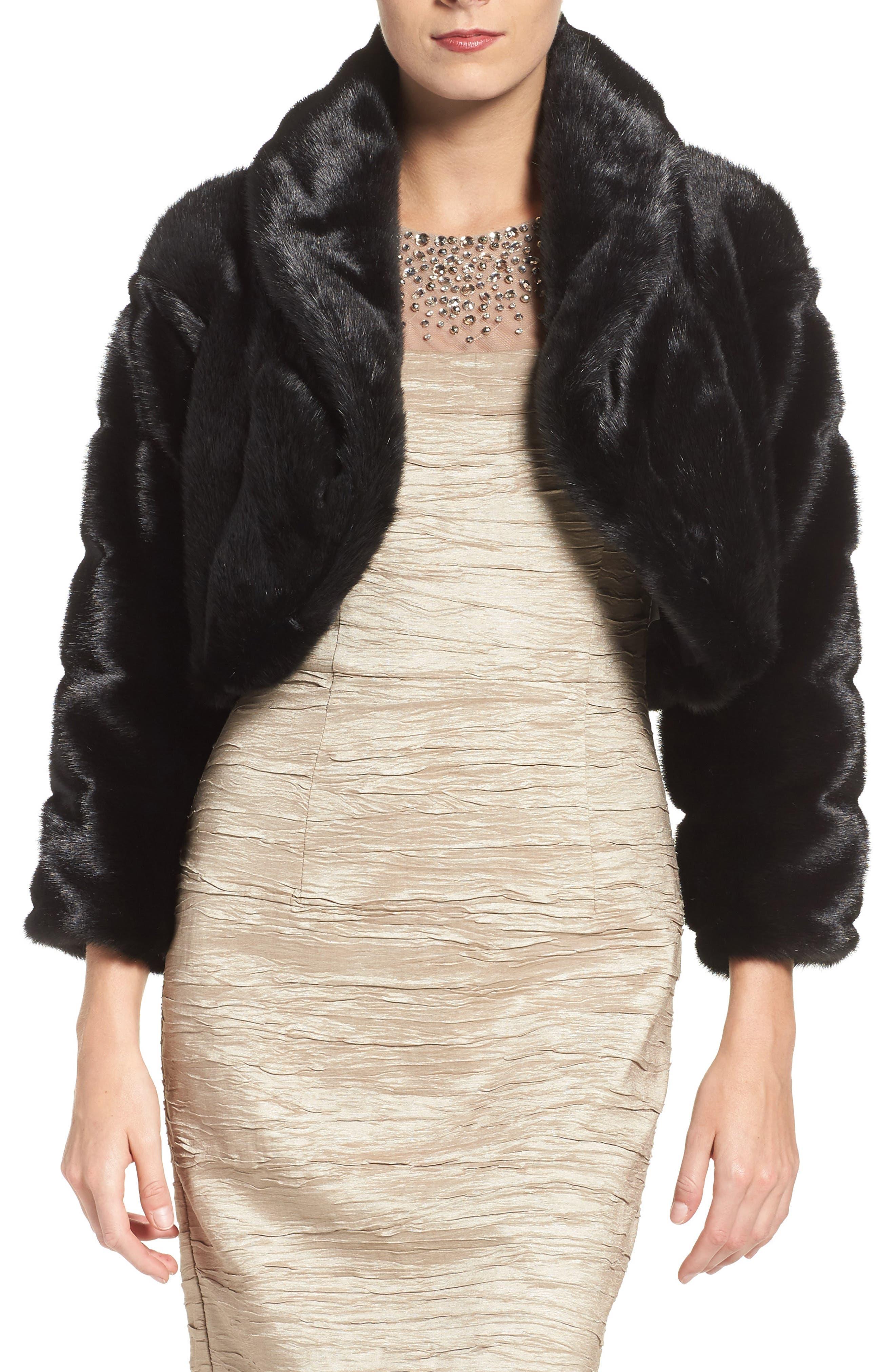 Alternate Image 1 Selected - Eliza J Faux Fur Bolero