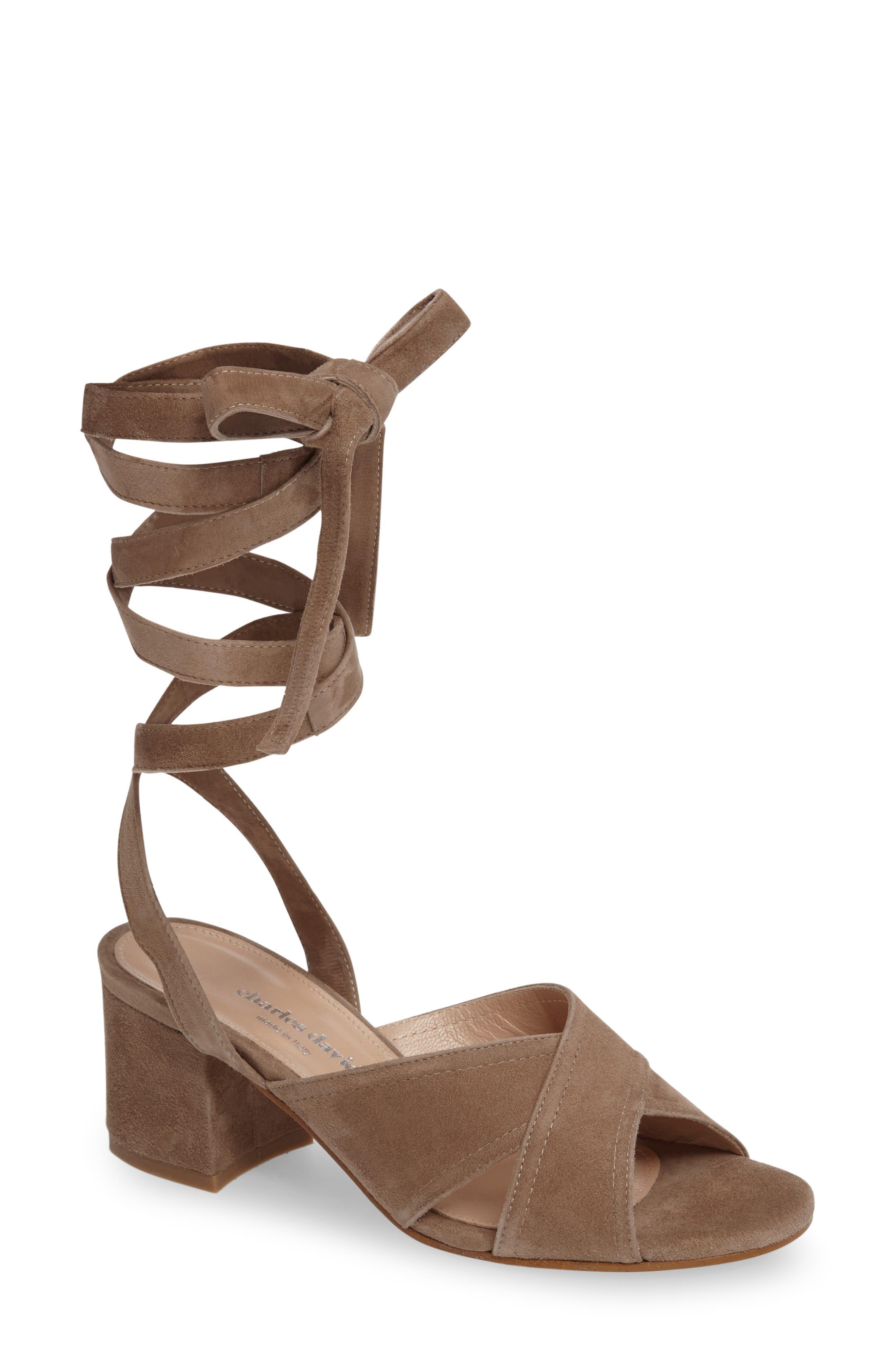 Alternate Image 1 Selected - Charles David Blossom Wraparound Sandal (Women)