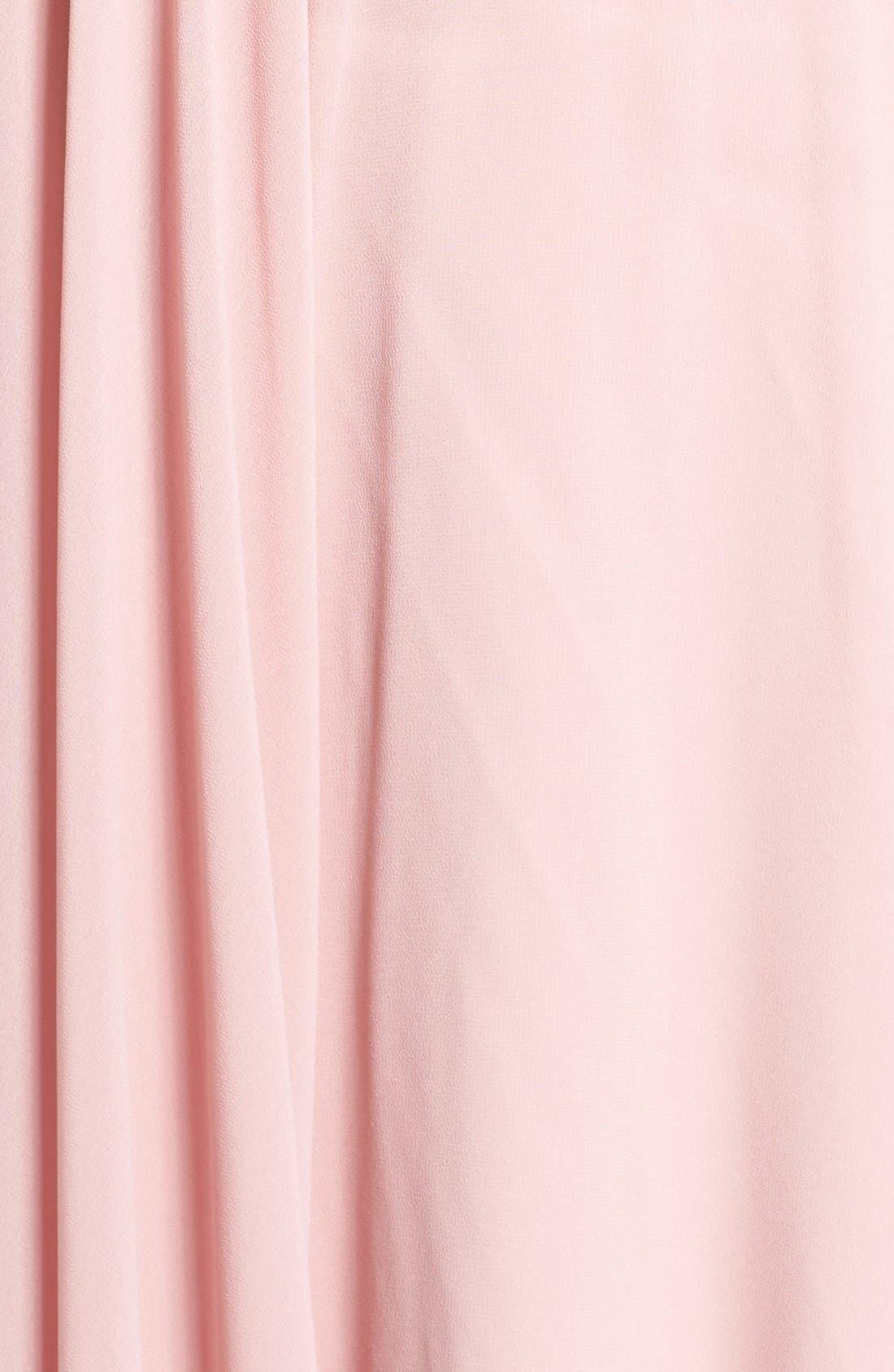 Chiffon Halter Gown,                             Alternate thumbnail 5, color,                             Mauve