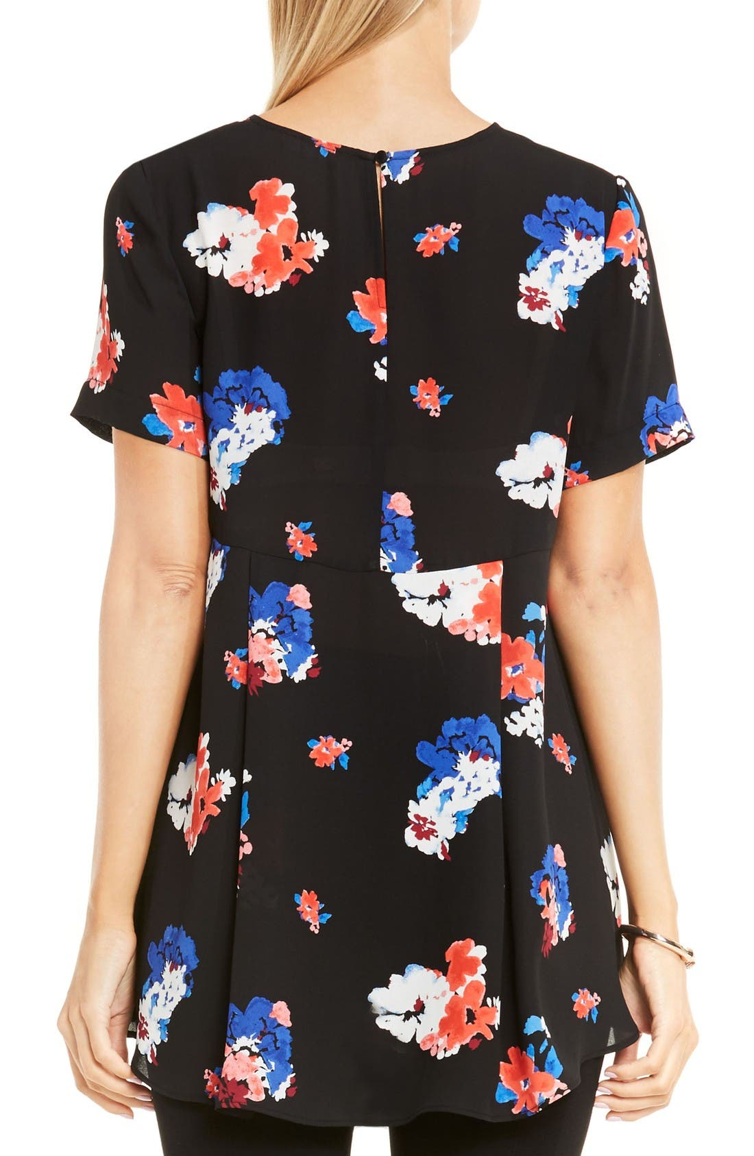 Alternate Image 2  - Vince Camuto High/Low Floral Blouse
