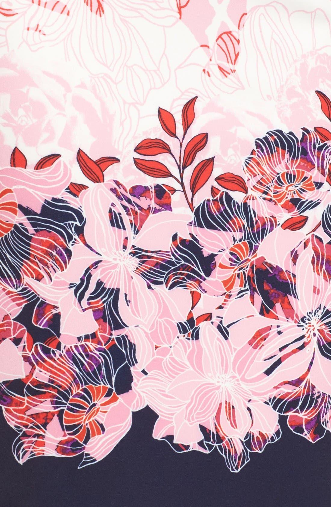 Alternate Image 6  - Halogen® Floral Print Pencil Skirt (Regular & Petite)