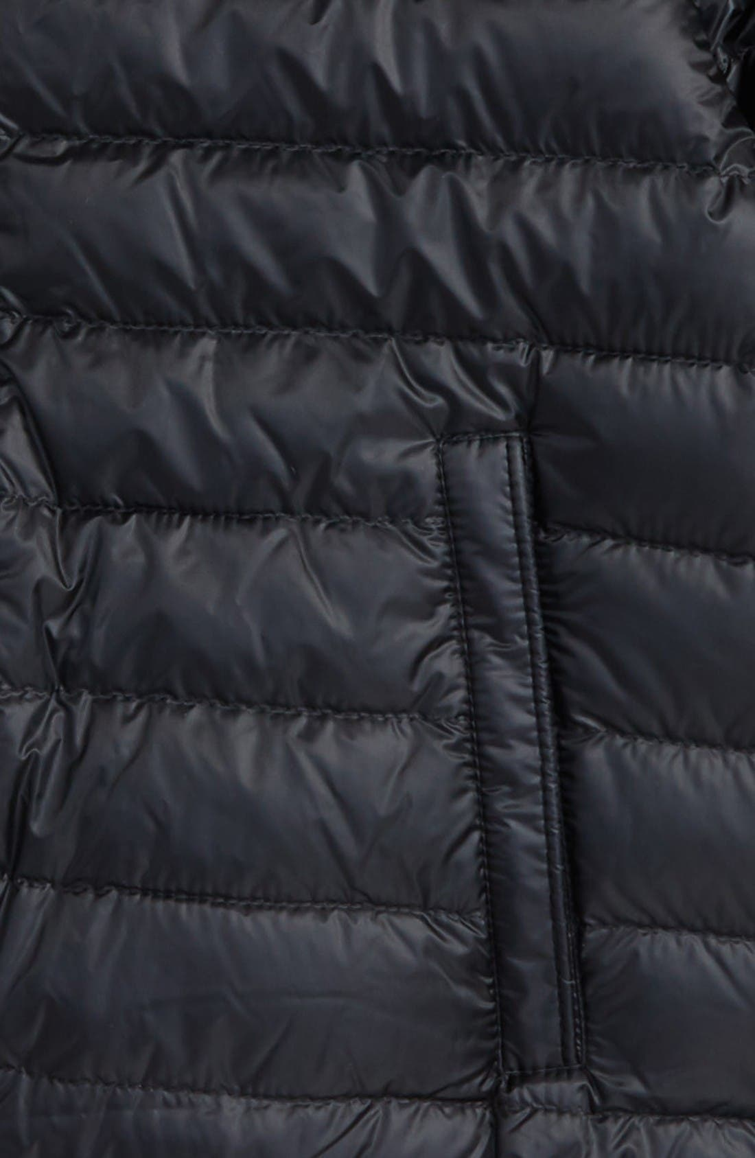 Alternate Image 2  - Moncler Garin Water Resistant Down Moto Jacket (Little Kids & Big Kids)