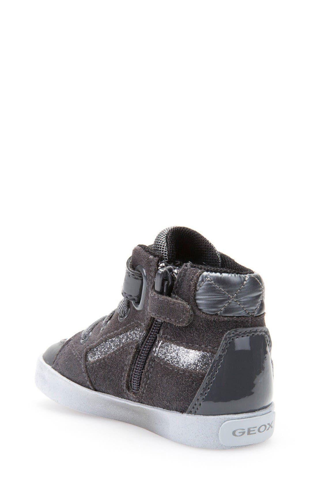 Alternate Image 2  - Geox Kiwi Studded High Top Sneaker (Walker & Toddler)