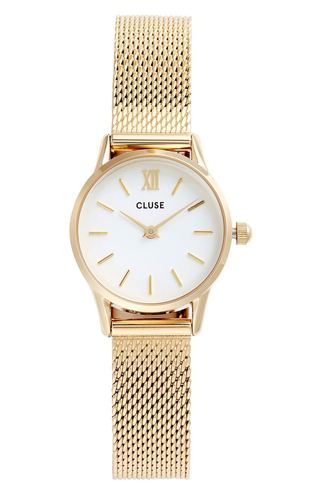 Alternate Image 1 Selected - CLUSE La Vedette Mesh Strap Watch, 24mm