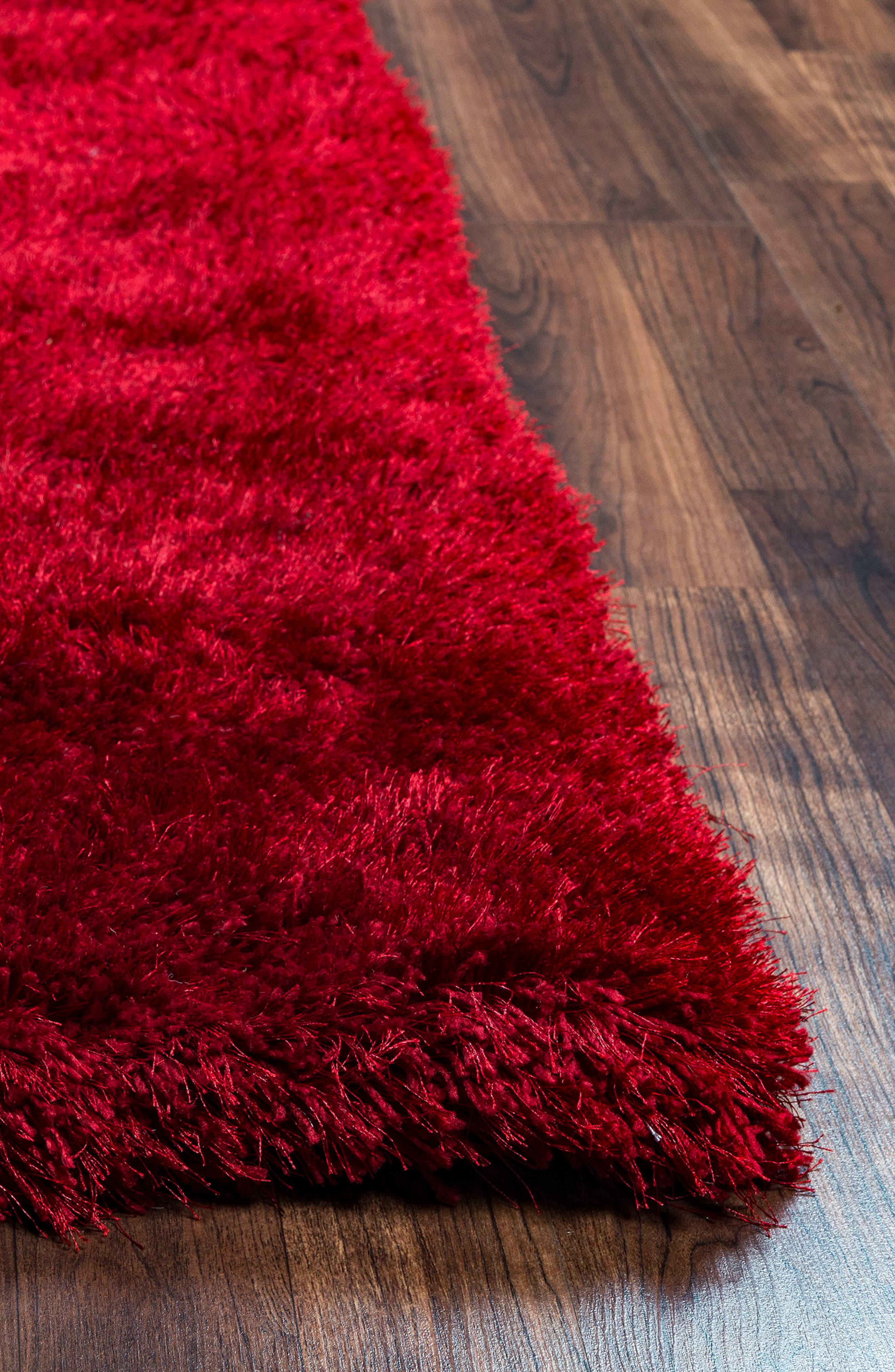 Plush Shag Hand Tufted Area Rug,                             Alternate thumbnail 2, color,                             Red
