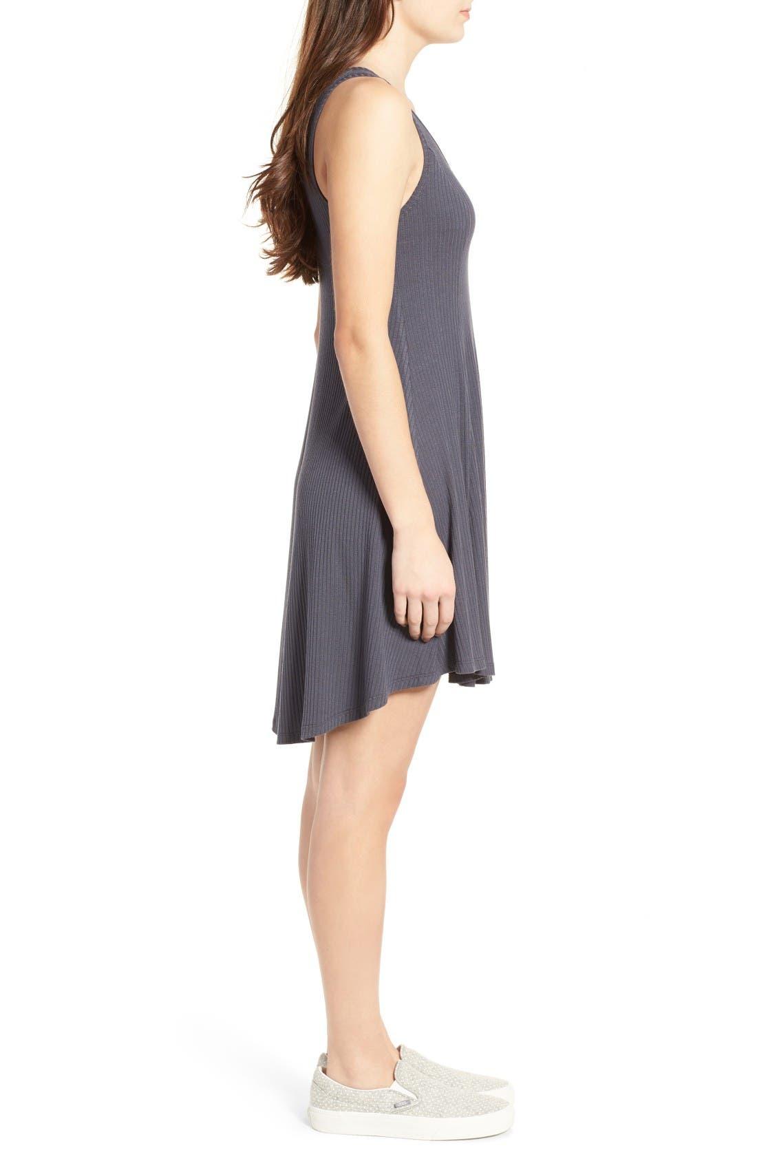 Alternate Image 3  - Lush Ribbed Skater Dress