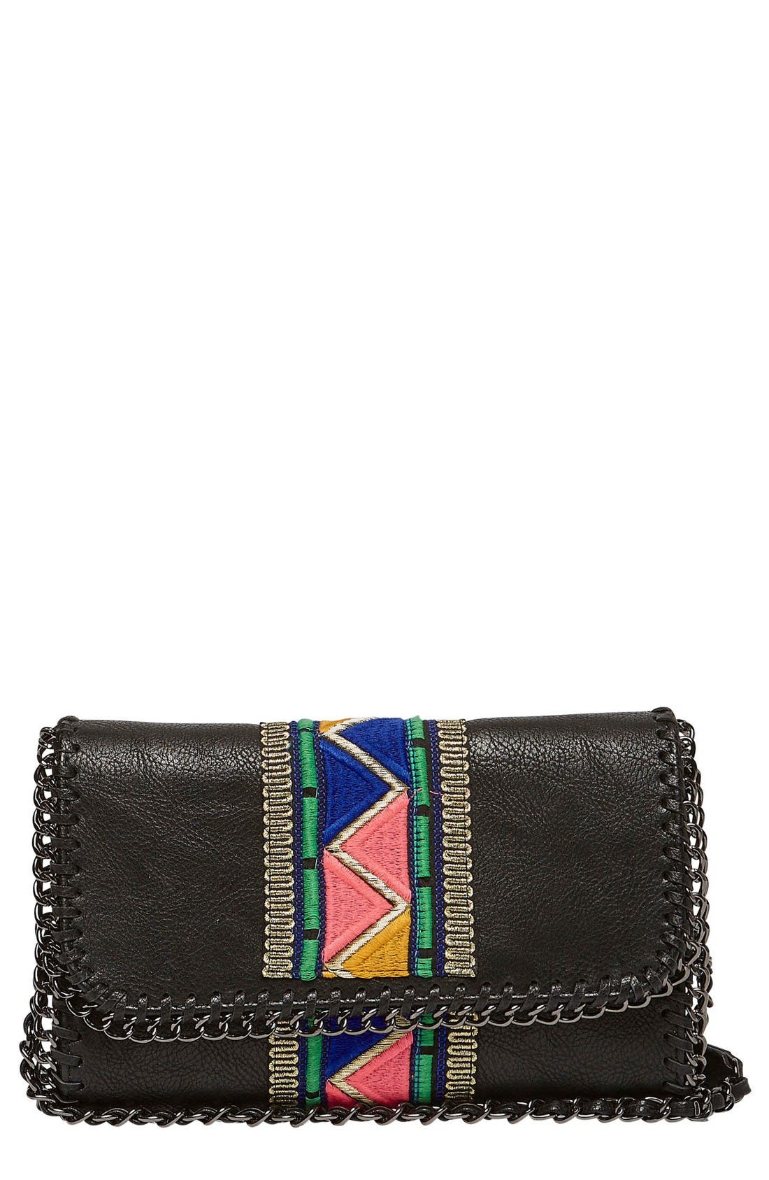 Alternate Image 1 Selected - Urban Originals Cosmic Love Vegan Leather Clutch