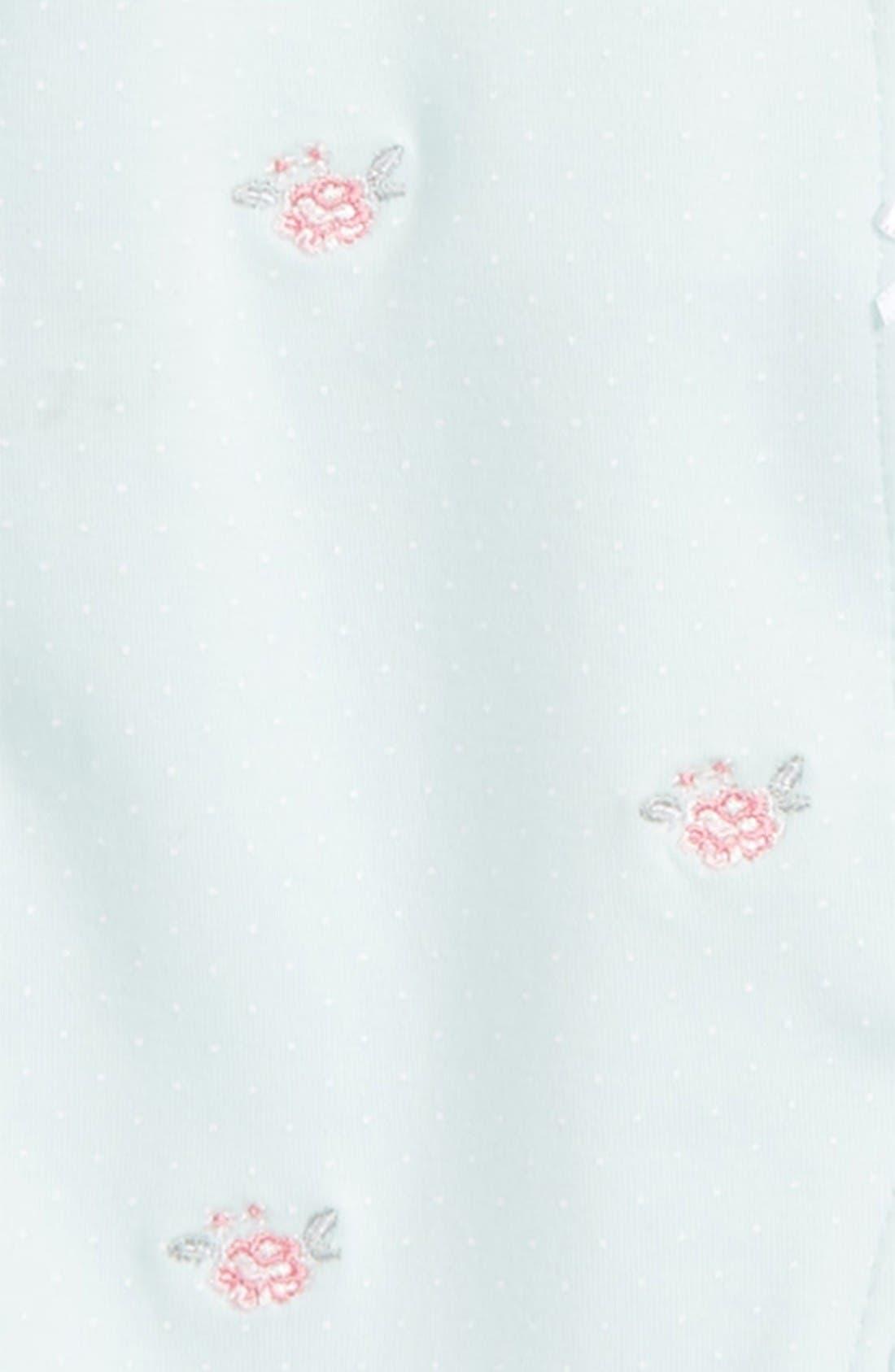 Alternate Image 2  - Little Me Flower Dot Footie & Hat Set (Baby Girls)