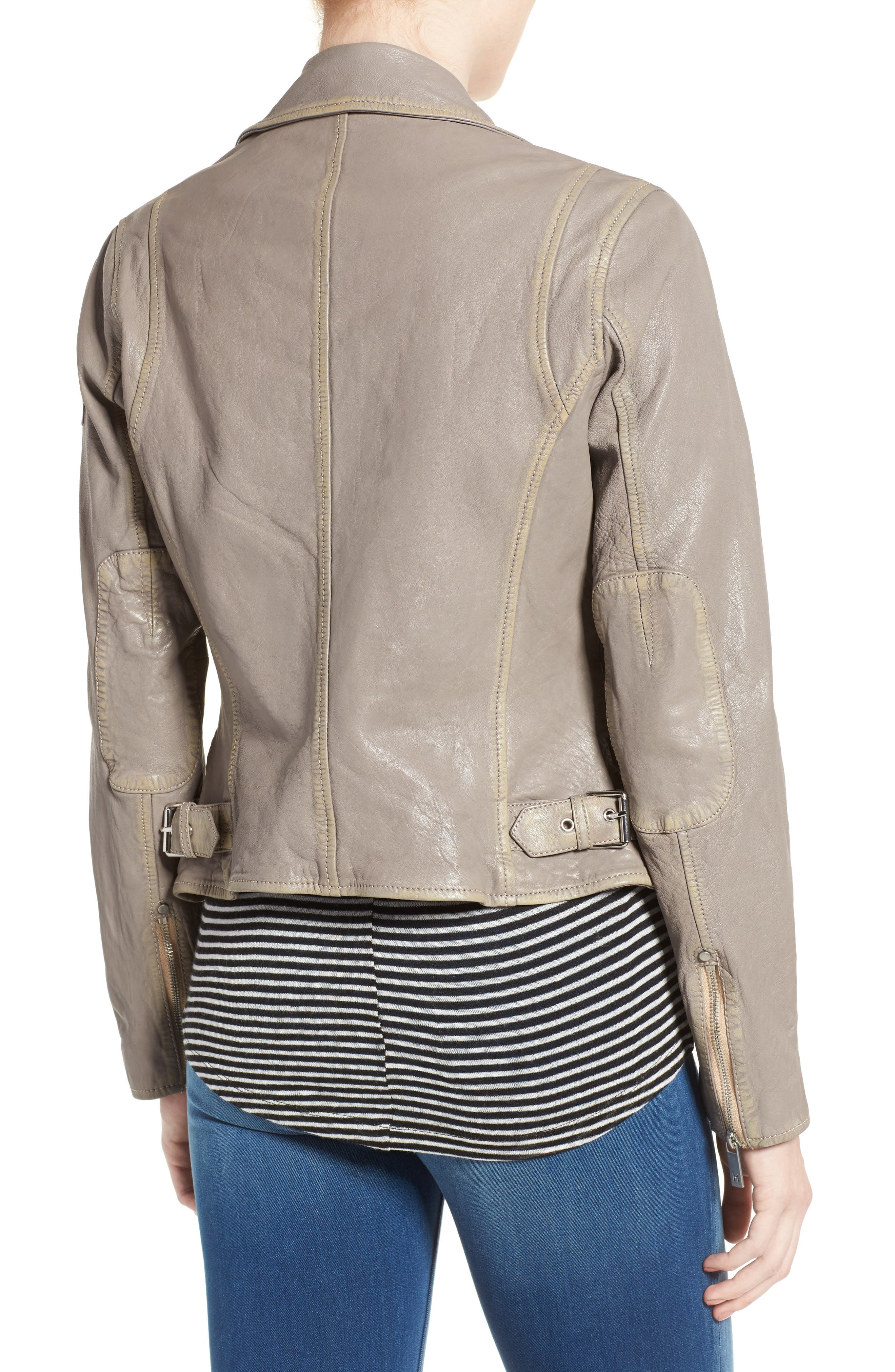 Alternate Image 2  - Mauritius Leather Moto Jacket
