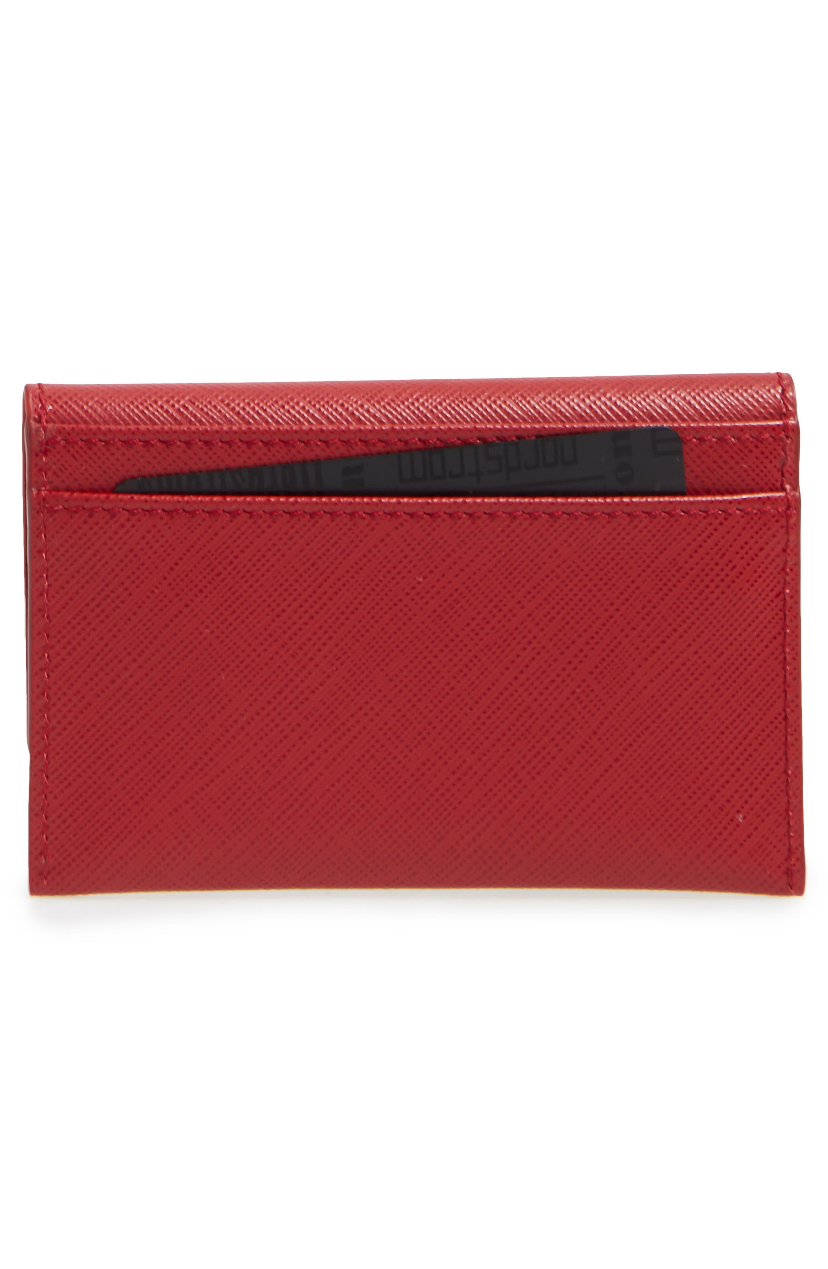 Alternate Image 2  - Salvatore Ferragamo Vara Leather Card Case