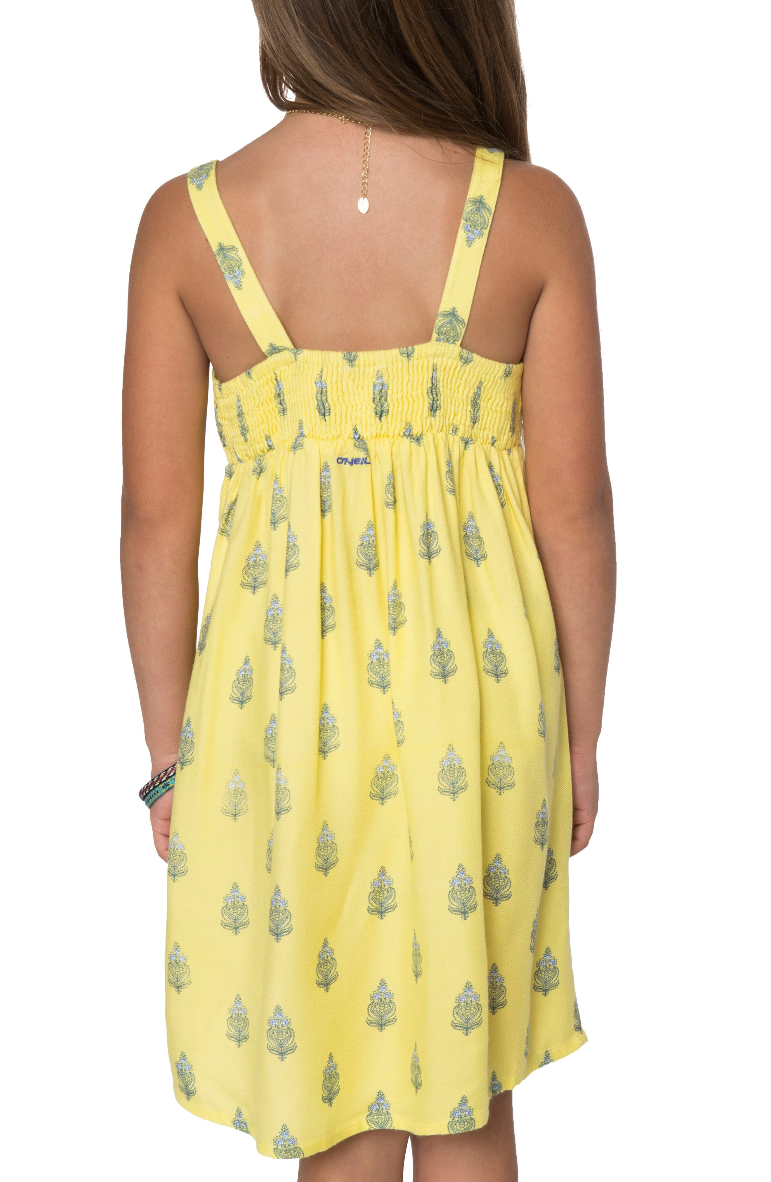 Ivy Tank Dress,                             Alternate thumbnail 2, color,                             Yellow