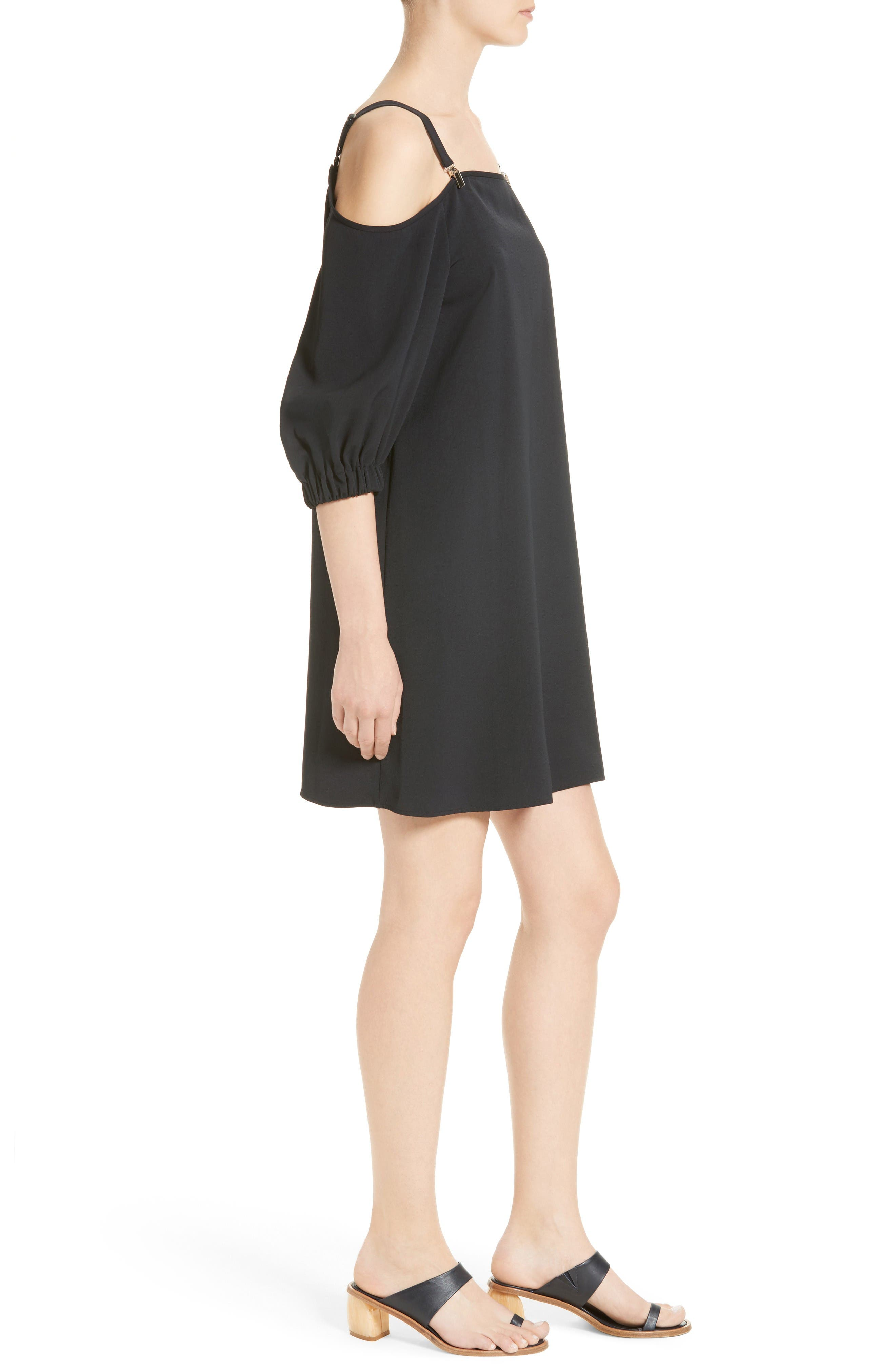 Alternate Image 3  - Tibi Cold Shoulder Suspender Shift Dress