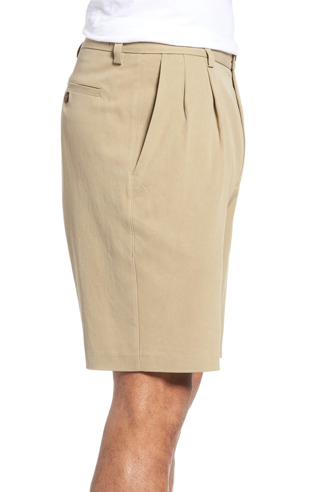 St. Thomas Pleated Shorts,                             Alternate thumbnail 3, color,                             Sisal