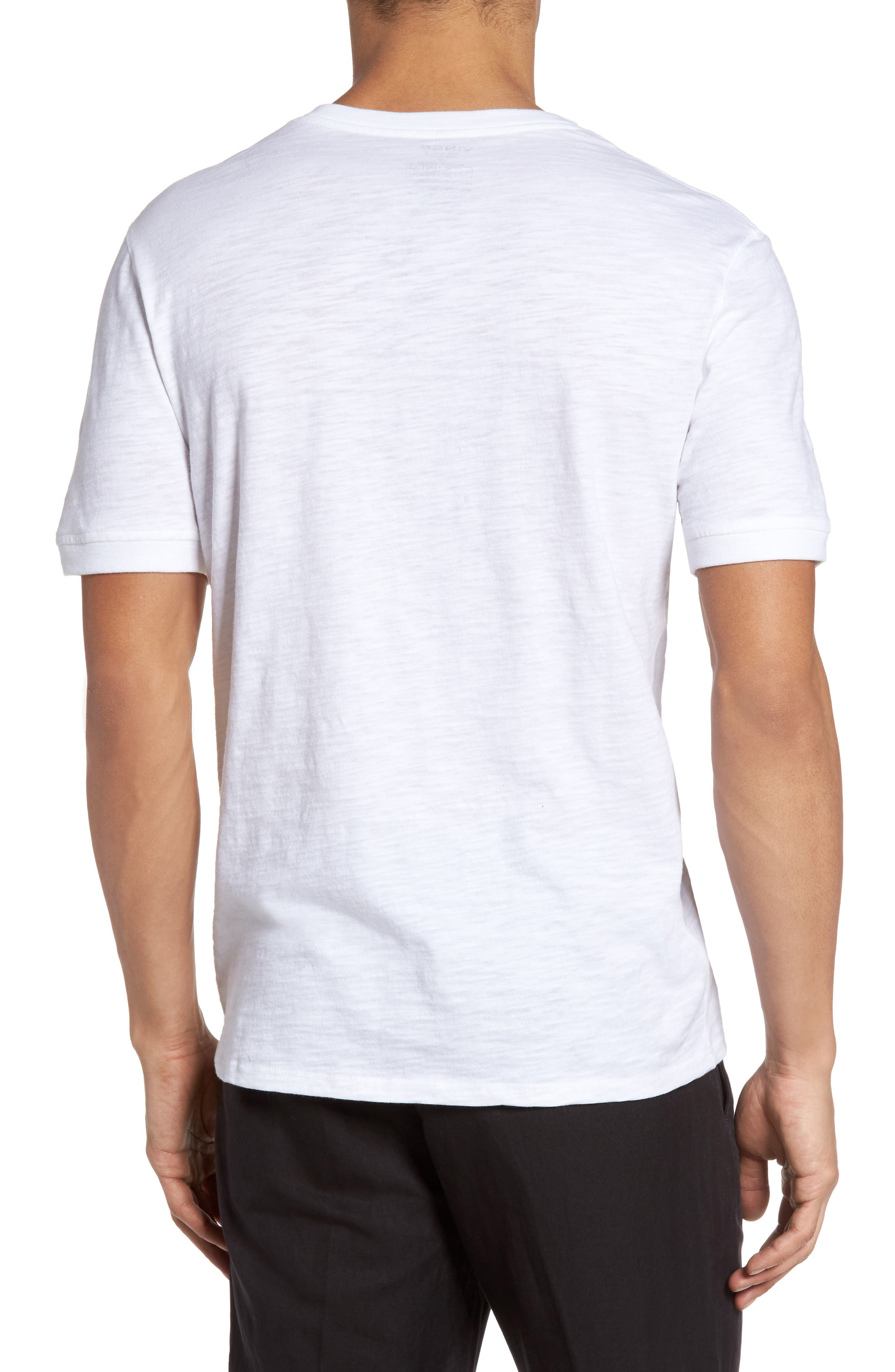 Slub Henley,                             Alternate thumbnail 2, color,                             White