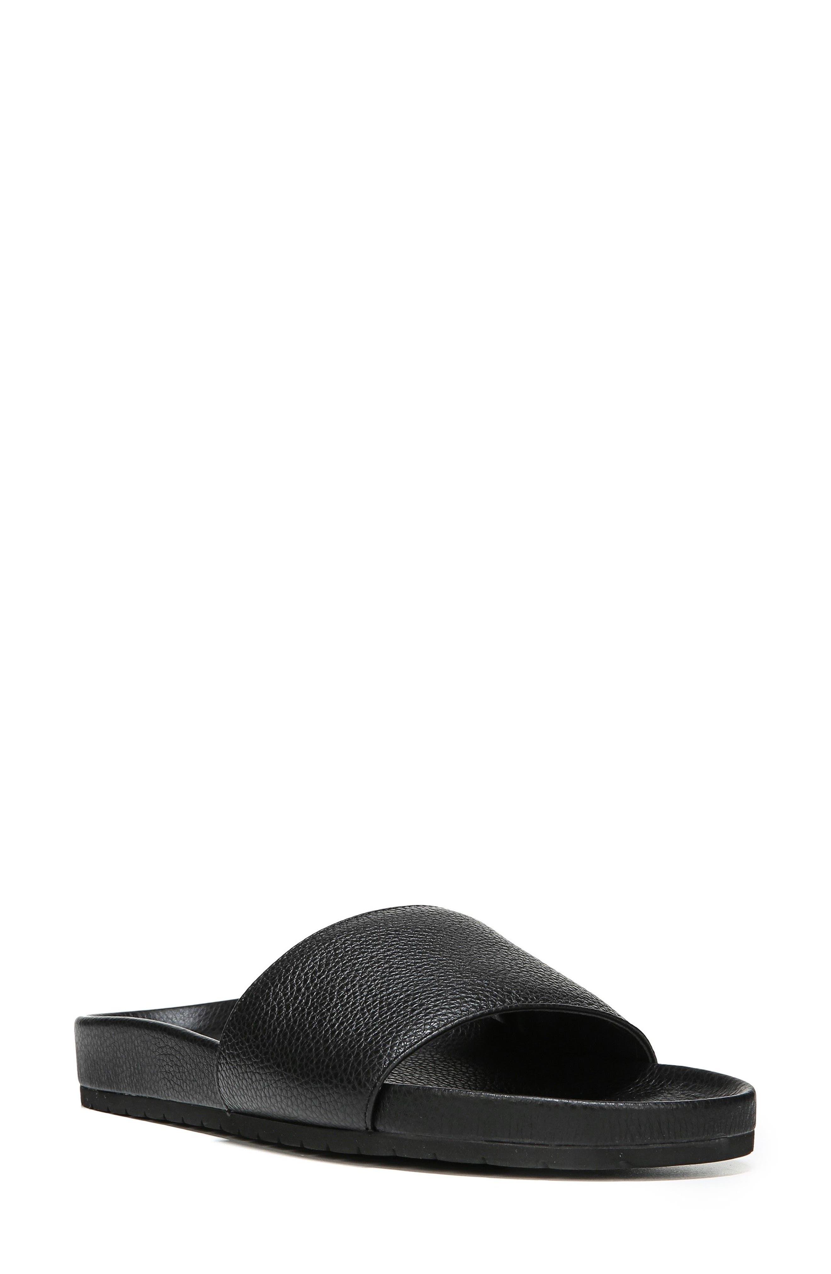 Gavin Slide Sandal,                             Main thumbnail 1, color,                             Black