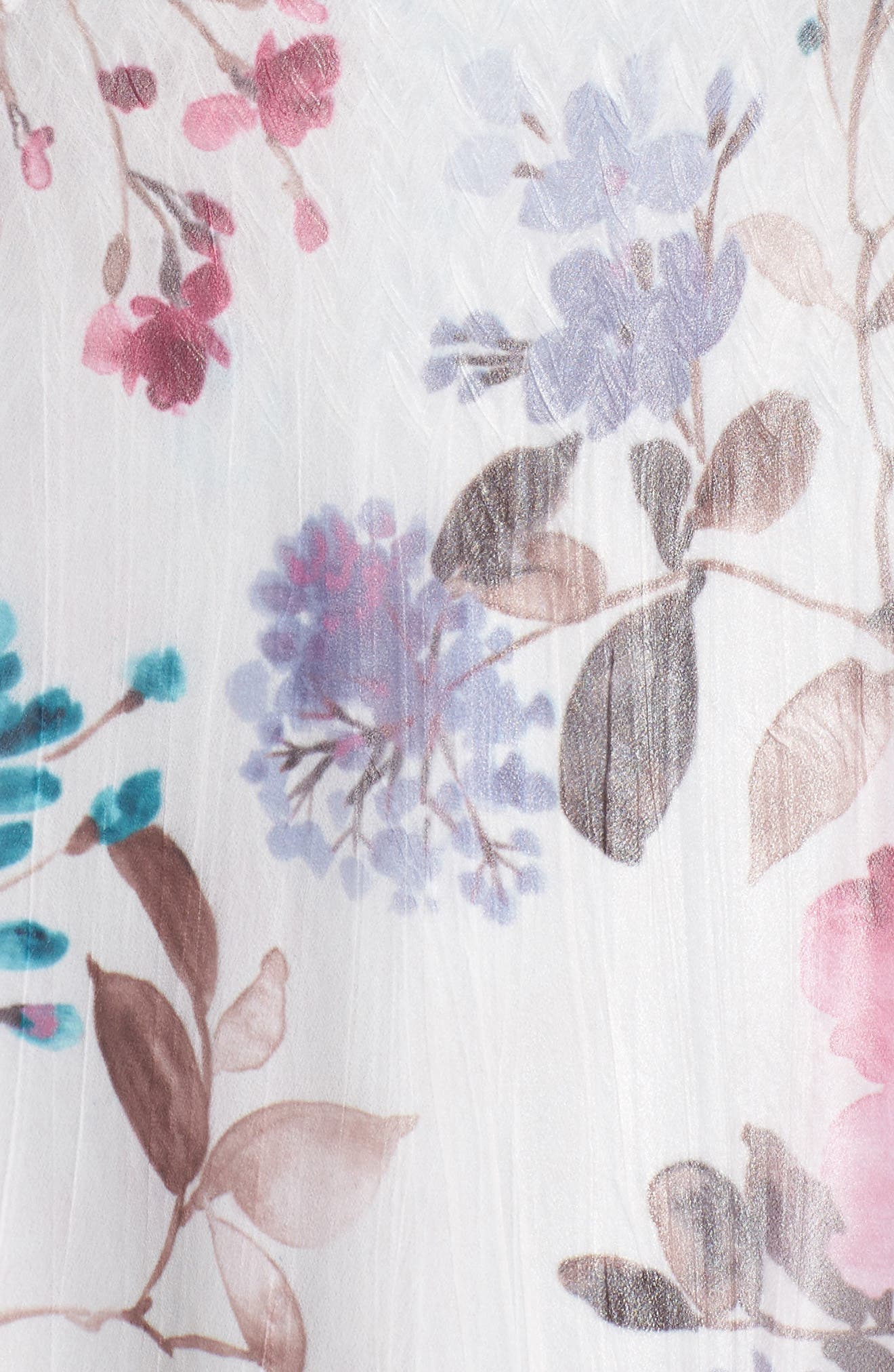 Alternate Image 5  - Komarov Floral Chiffon & Charmeuse A-Line Dress (Plus Size)