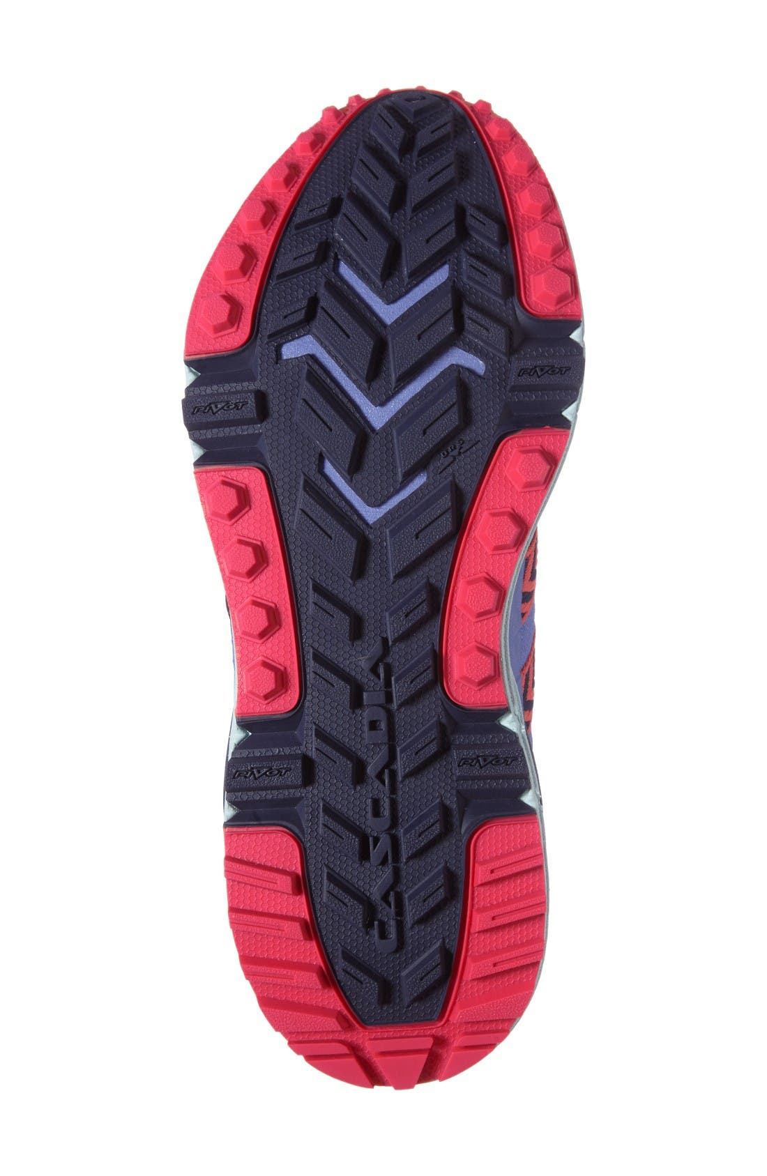 Cascadia 12 Trail Running Shoe,                             Alternate thumbnail 4, color,                             Baja Blue/ Pink/ Clearwater