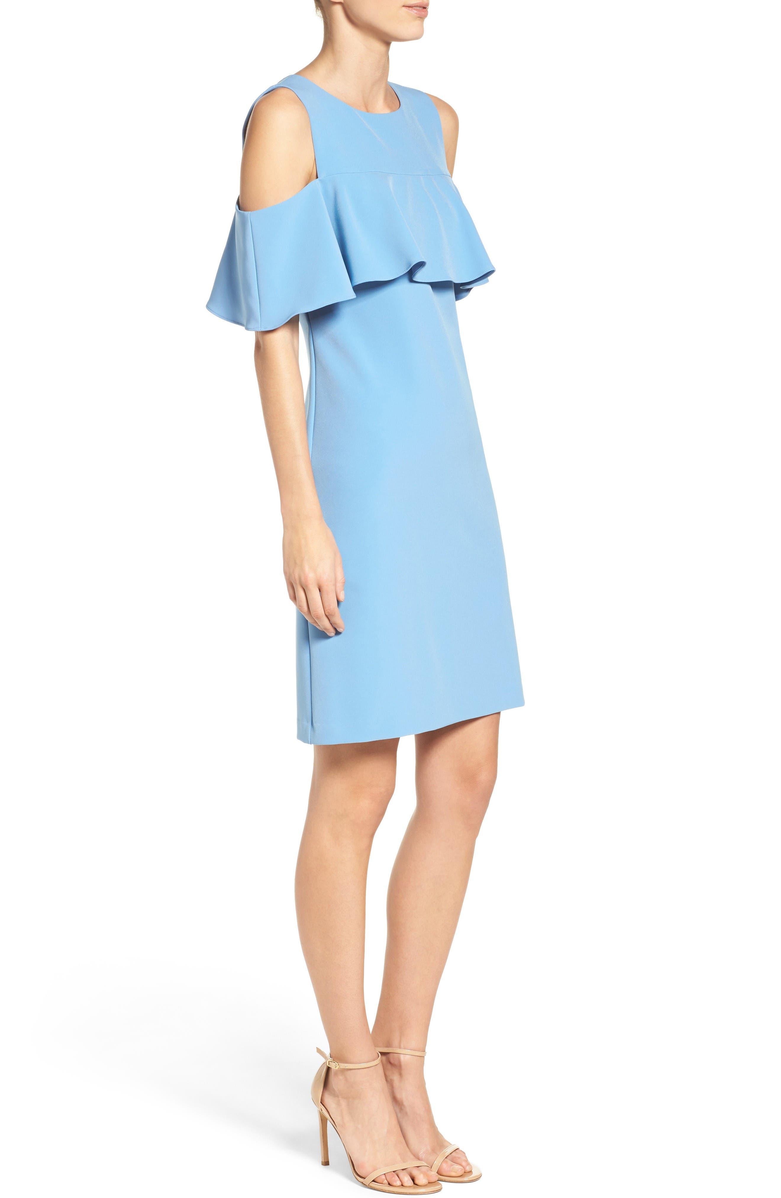 Alternate Image 4  - Taylor Dresses Cold Shoulder Sheath Dress
