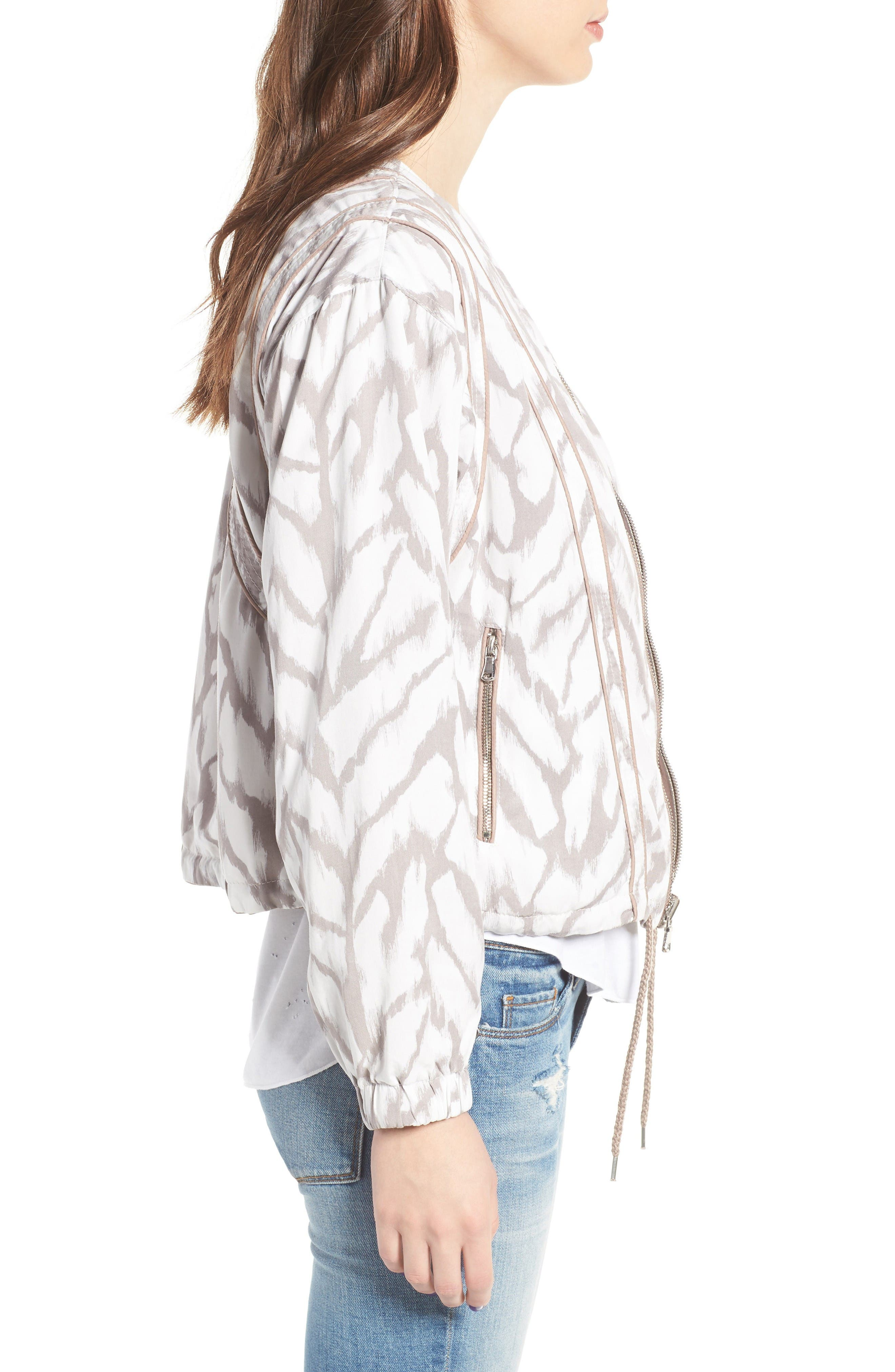 Deep Truth Reversible Jacket,                             Alternate thumbnail 5, color,                             Deep Truth Taupe/ White Print