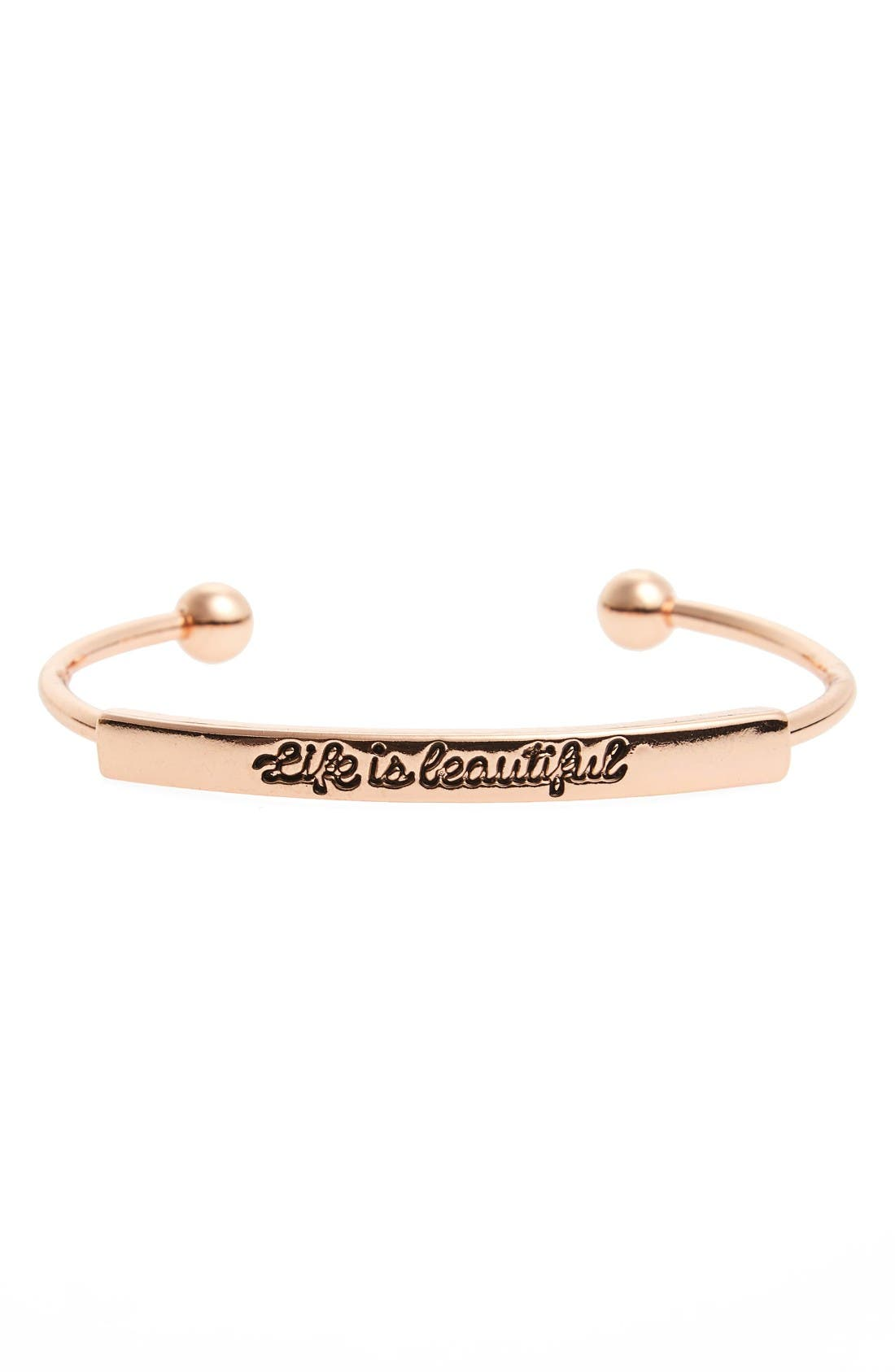 Alternate Image 1 Selected - Topshop Life is Beautiful Cuff