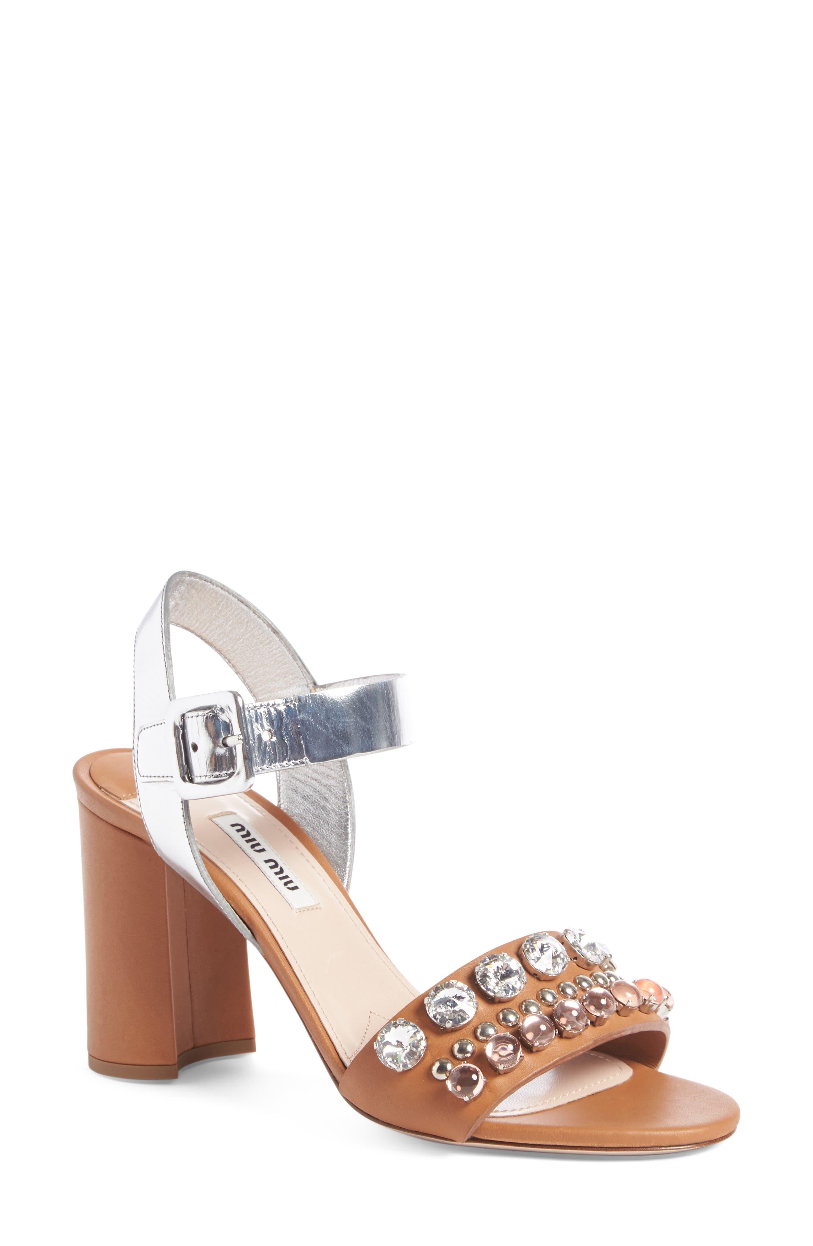 Miu Miu Jewel Sandal (Women)