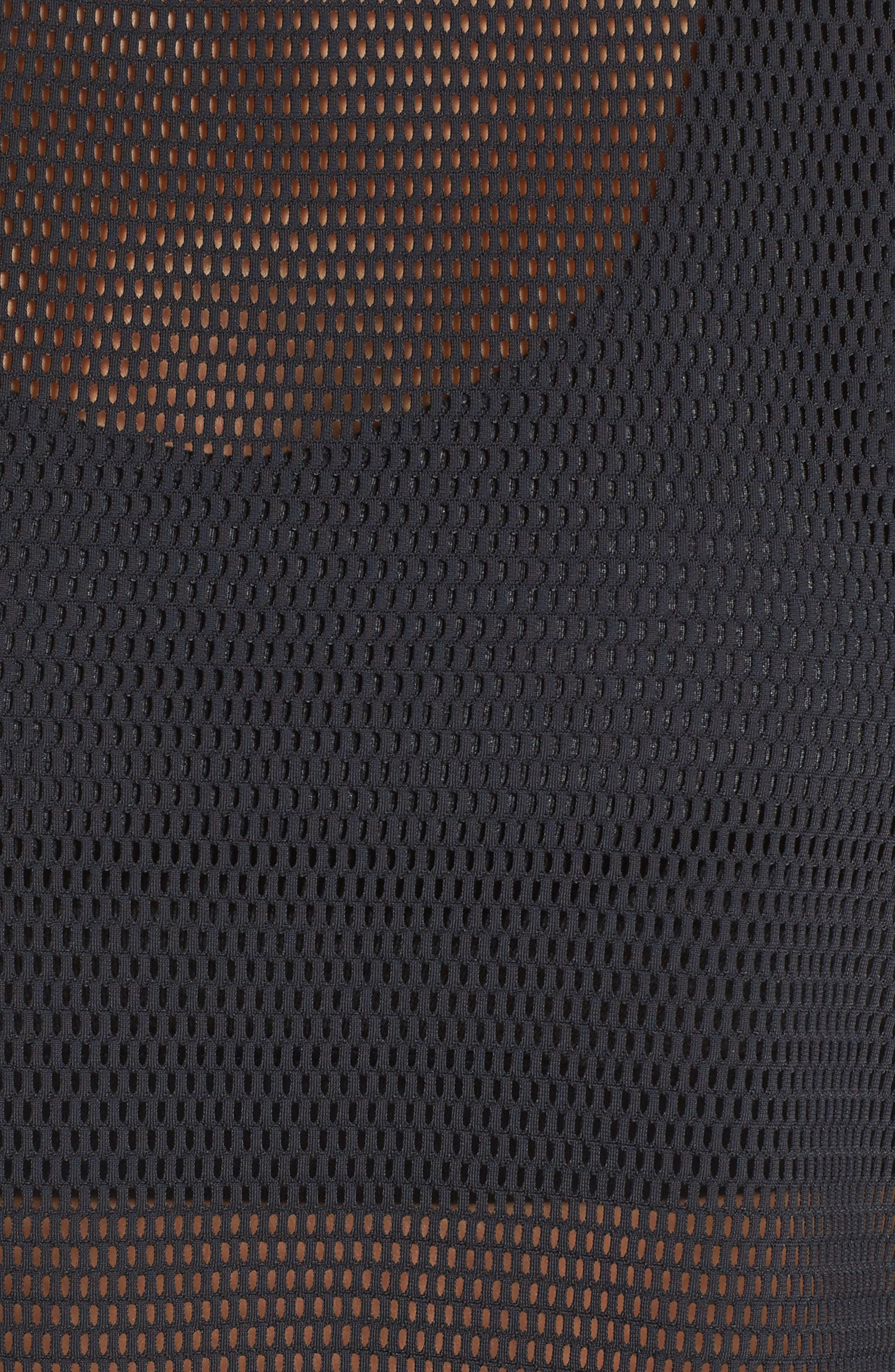 Meshin' Around Crop Tee,                             Alternate thumbnail 6, color,                             Black