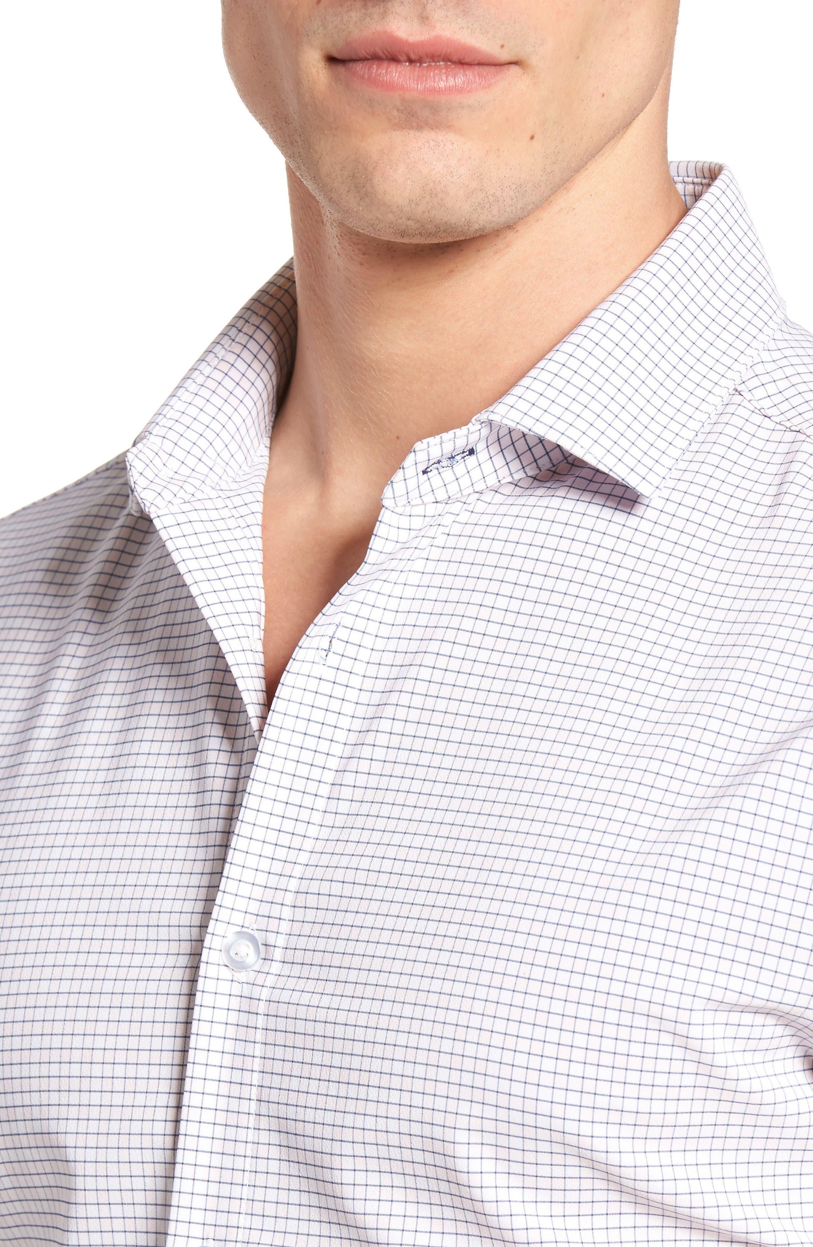 Alternate Image 4  - Mizzen+Main Fowler Illusion Gingham Performance Sport Shirt