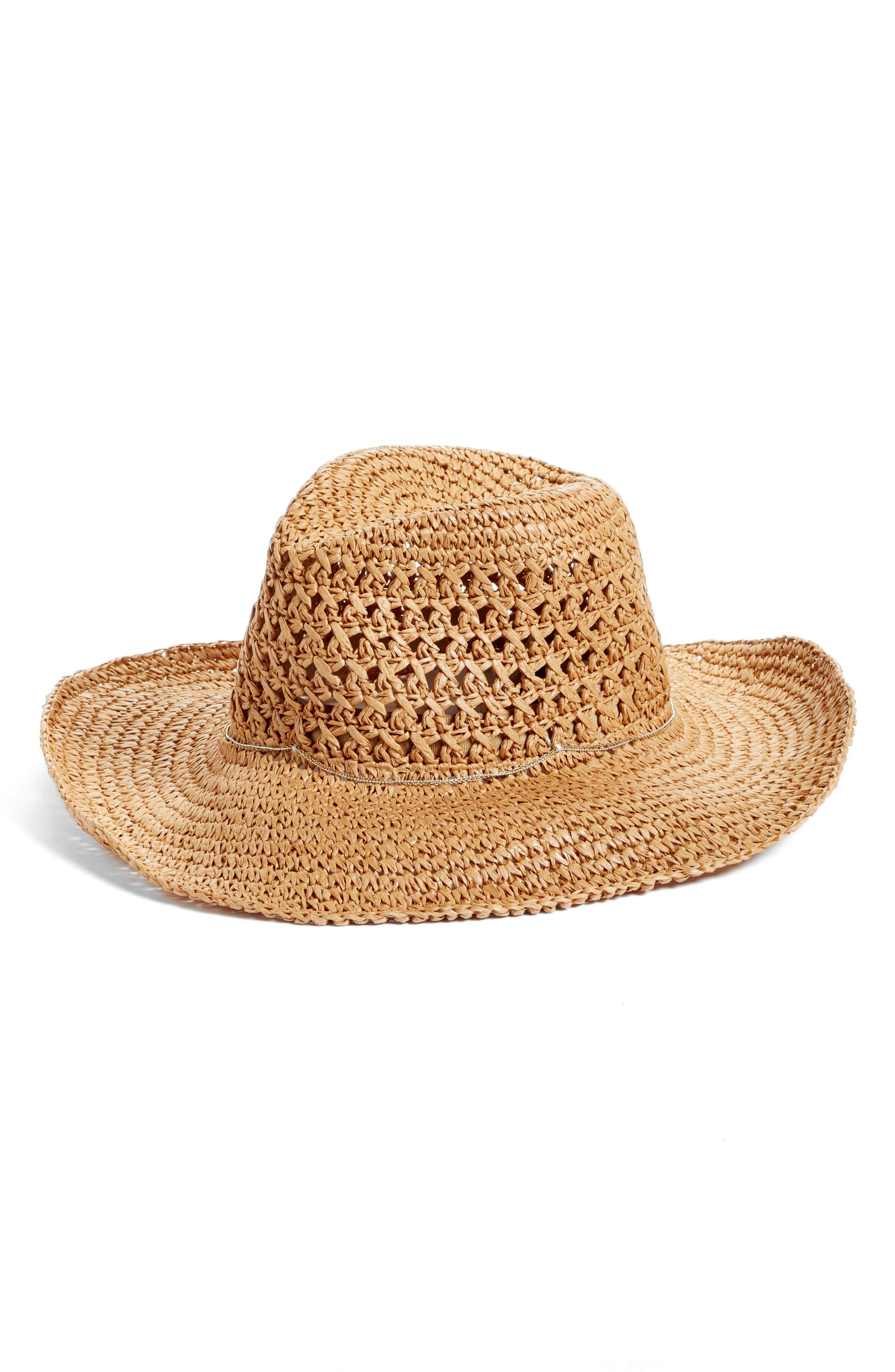 Alternate Image 1 Selected - Hinge Paper Straw Cowboy Hat