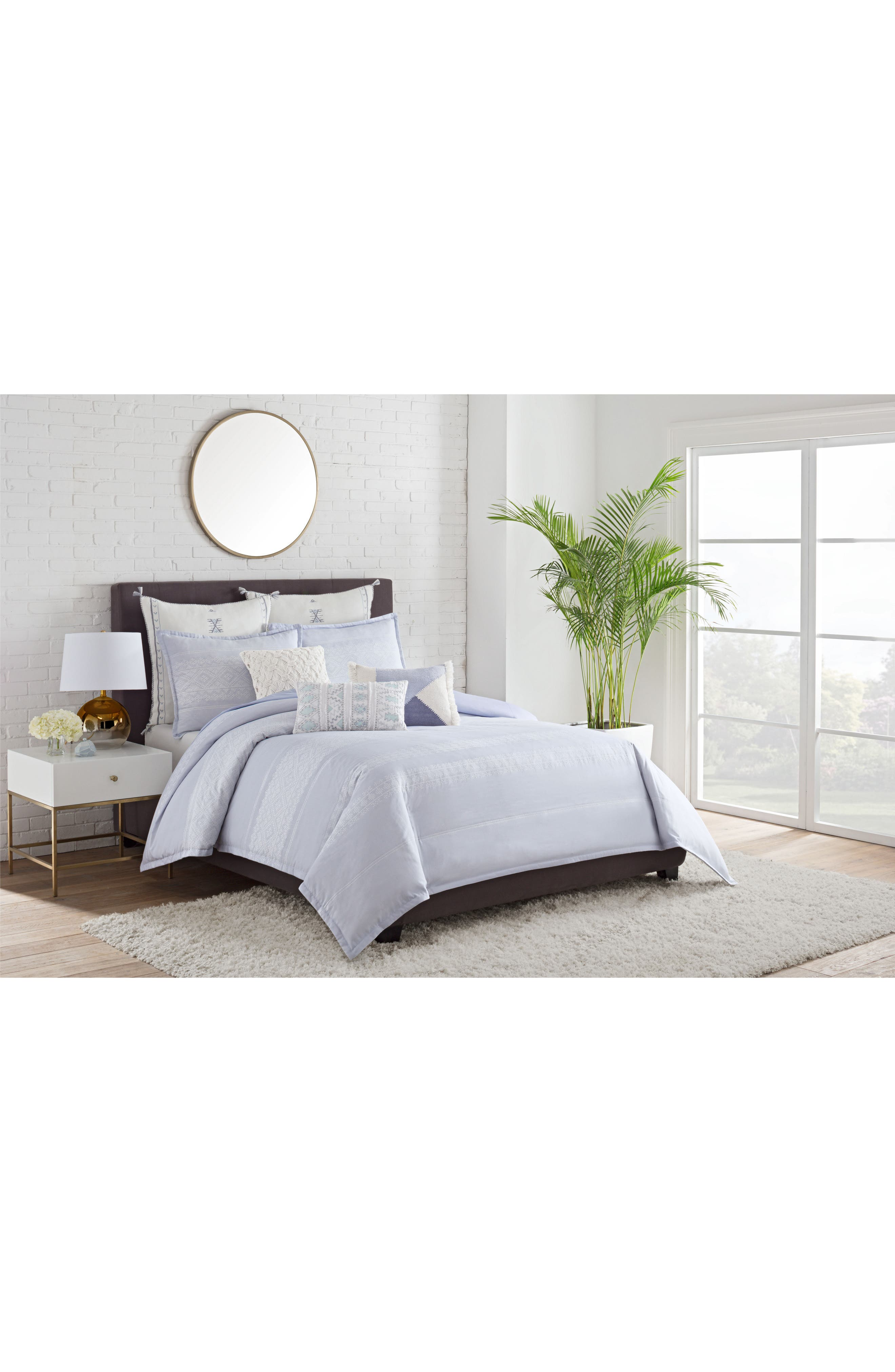 Cupcakes And Cashmere Mosaic Tile Duvet Cover Nordstrom