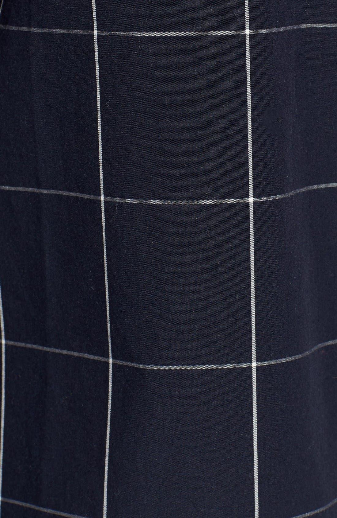 Windowpane Bell Sleeve Shirt,                             Alternate thumbnail 5, color,                             Night Vision